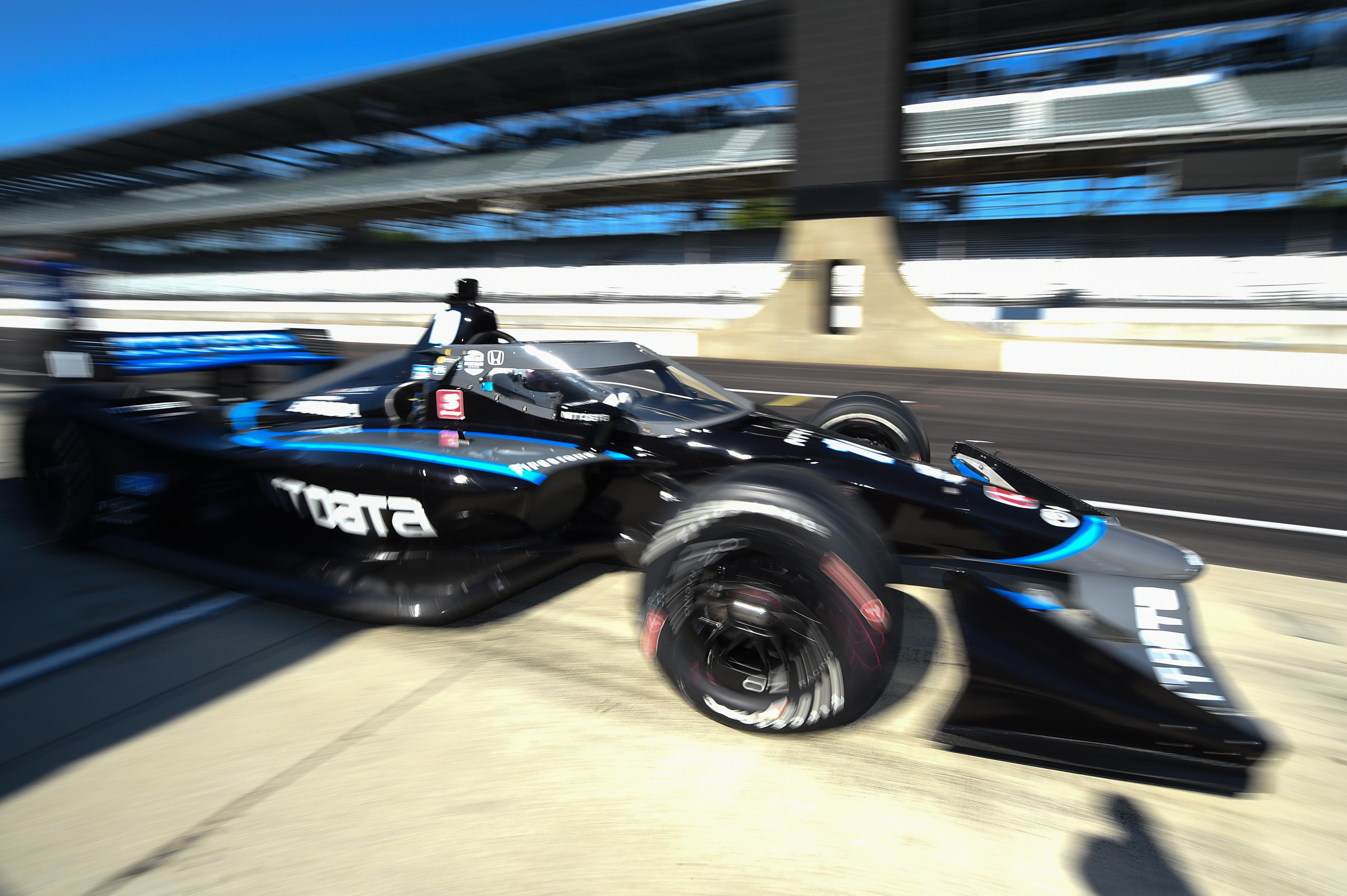 Jimmie Johnson Ganassi IndyCar test