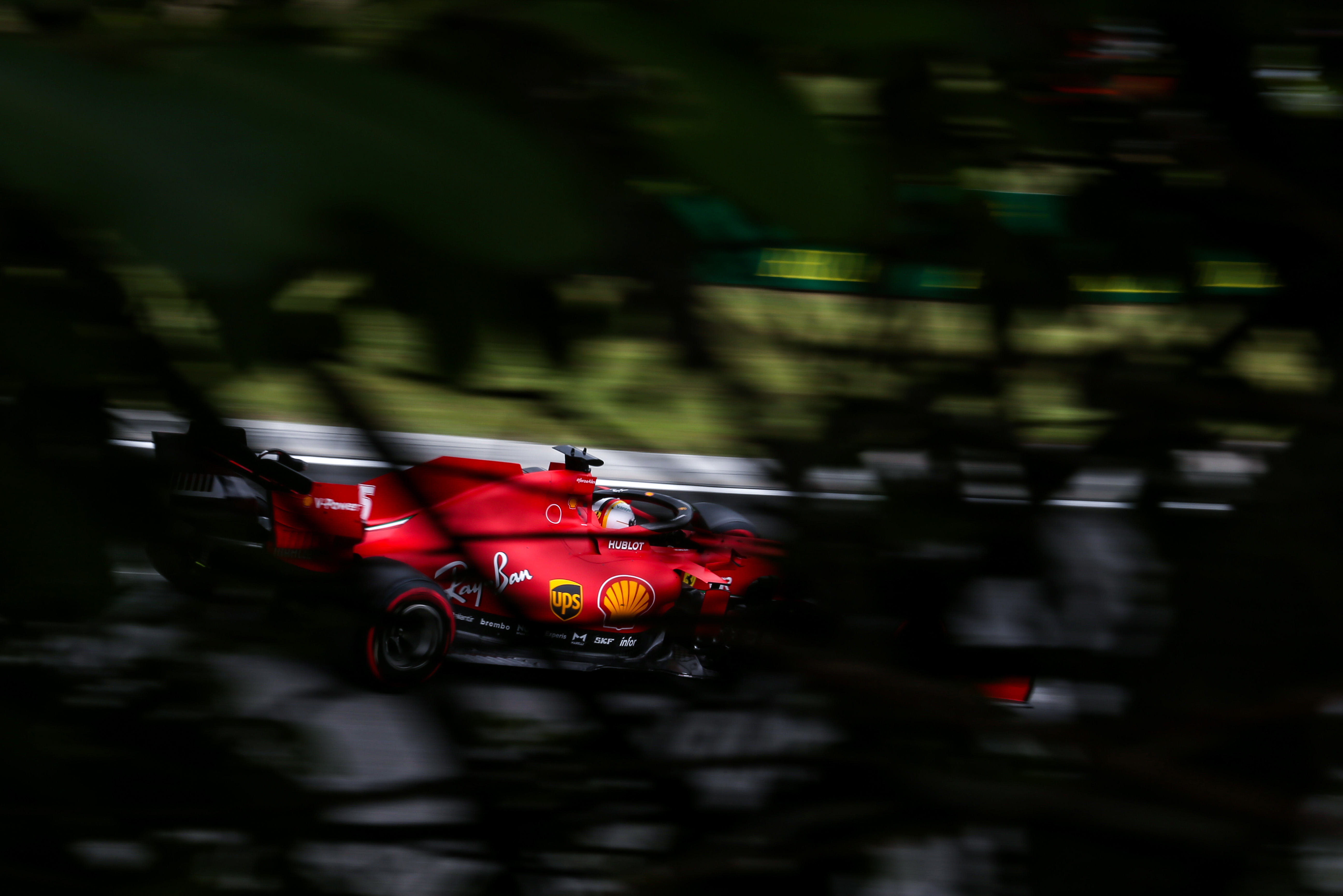 Sebastian Vettel Ferrari Hungarian Grand Prix 2020
