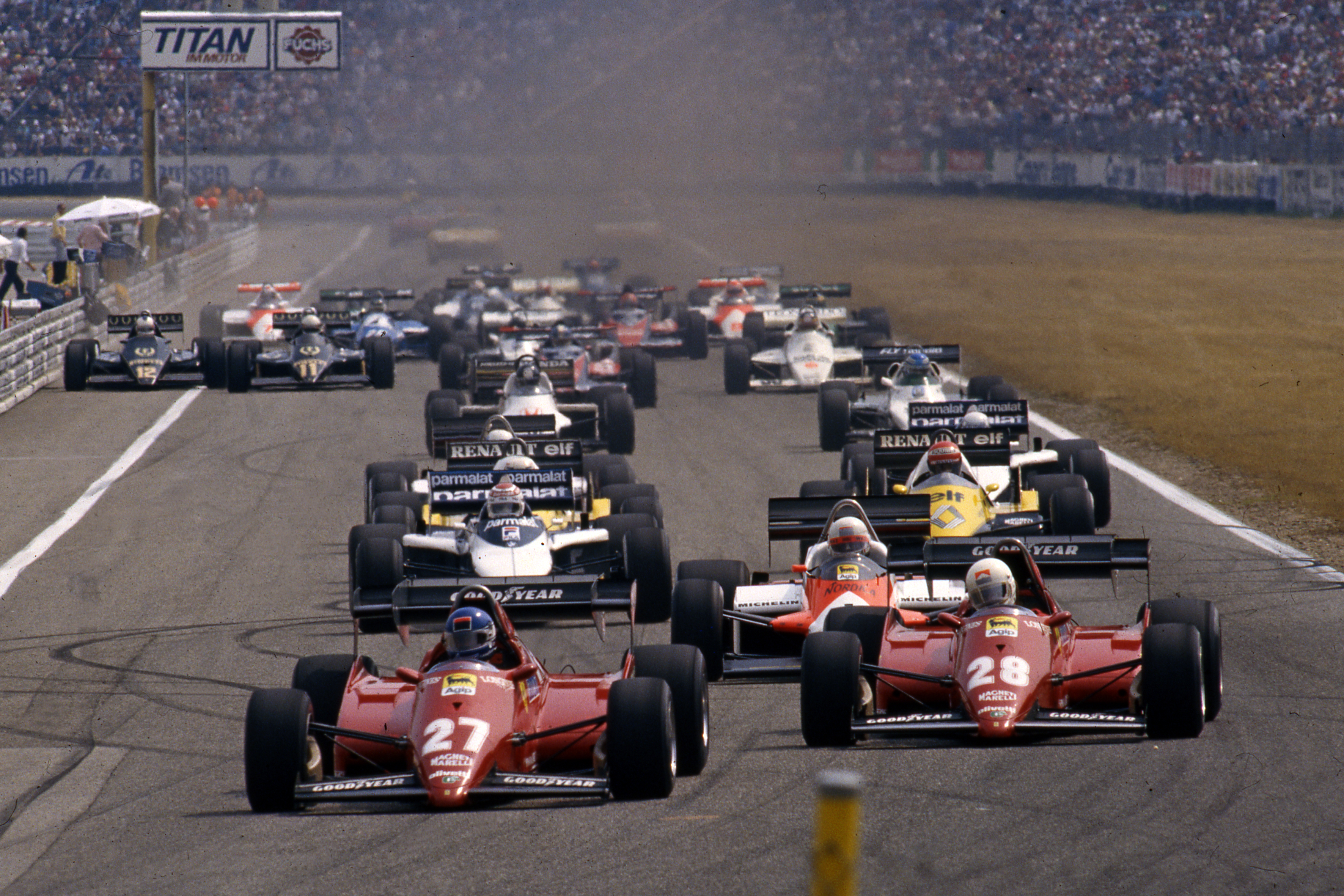 Patrick Tambay Ferrari German Grand Prix 1983 Hockenheim