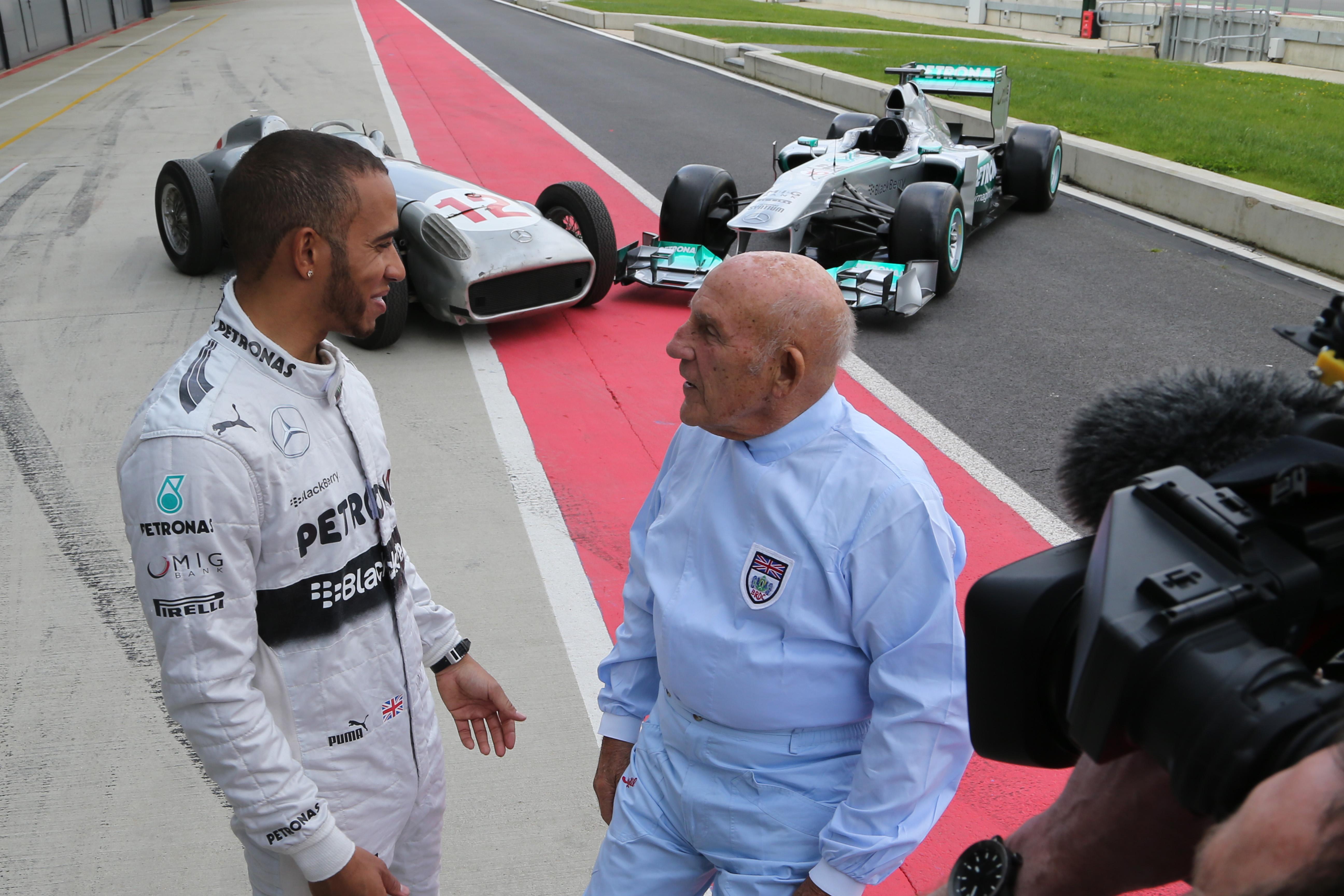 Lewis Hamilton Stirling Moss 2013