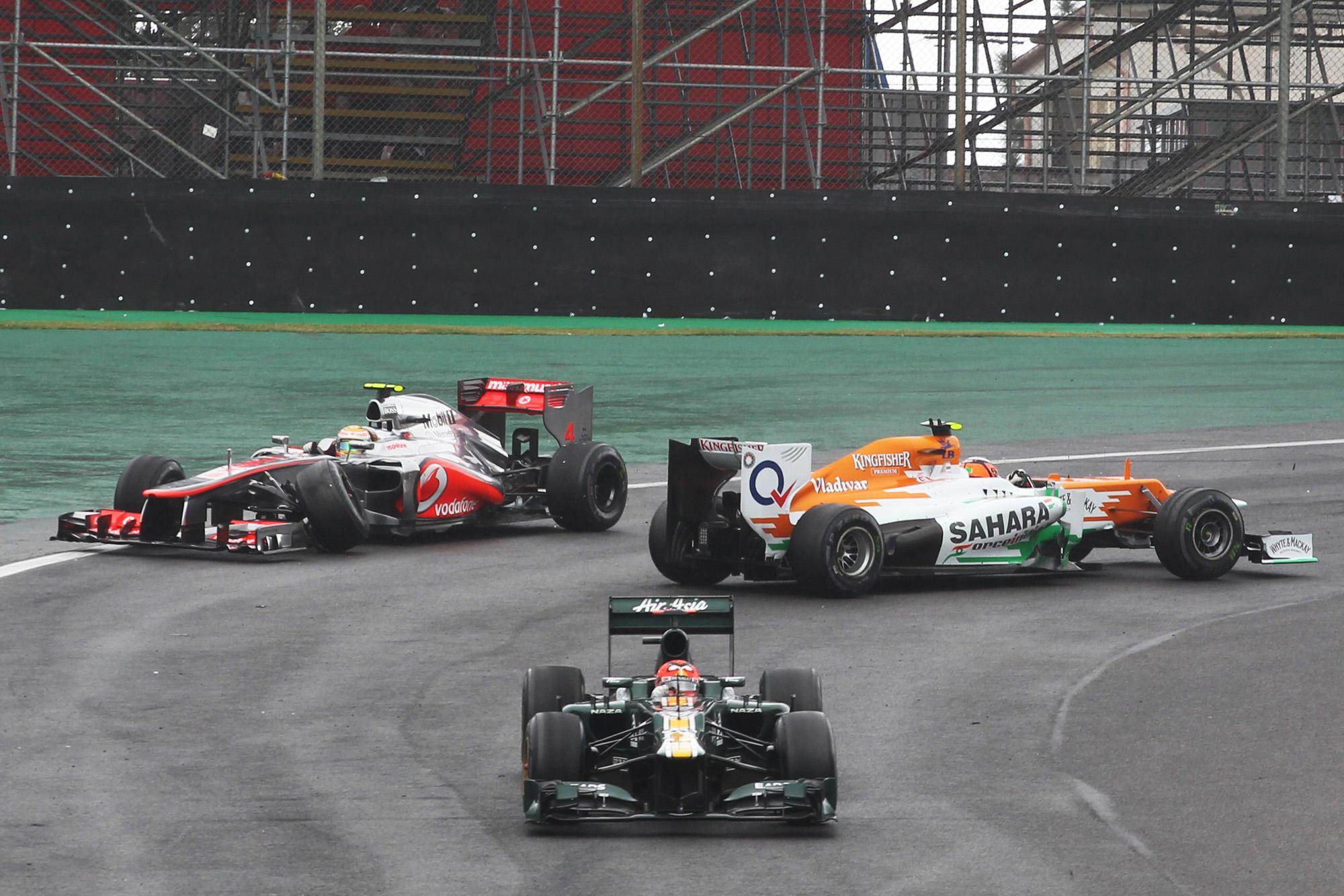 Nico Hulkenberg Lewis Hamilton Brazilian Grand prix 2012 crash F1 Interlagos McLaren Force India