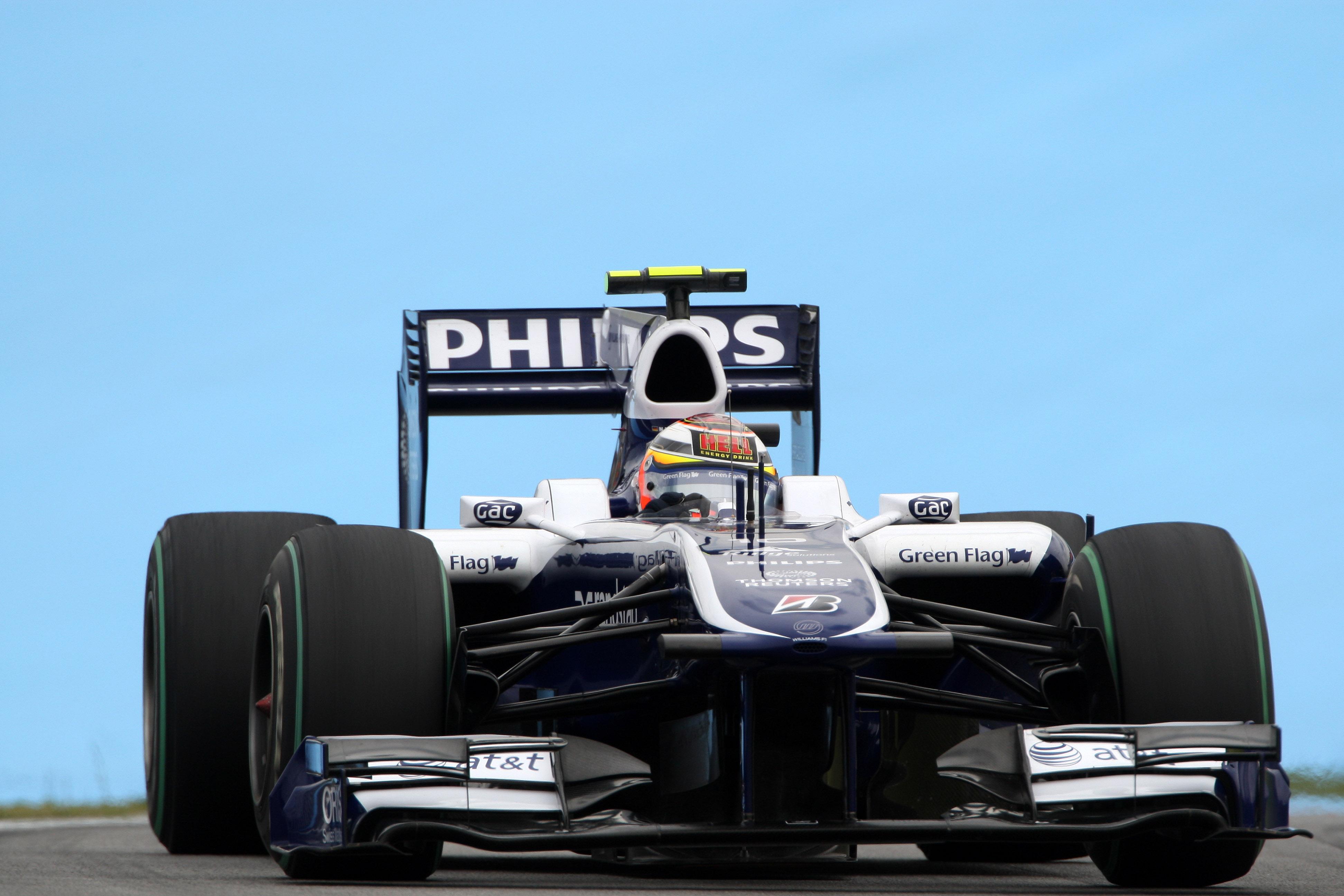 Nico Hulkenberg Williams Brazil pole position F1 2010 Interlagos