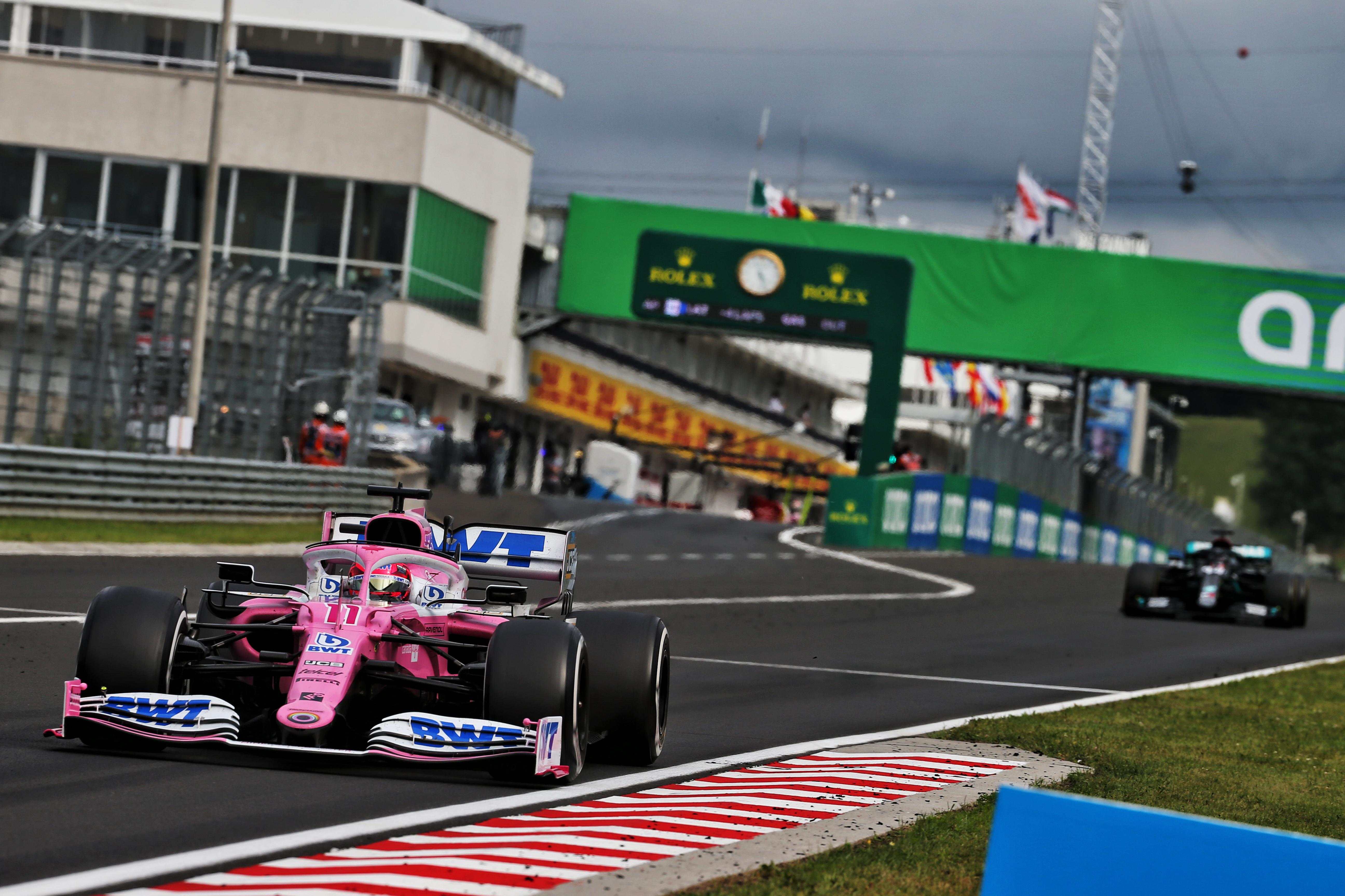 Sergio Perez Racing Point Hungarian Grand Prix 2020