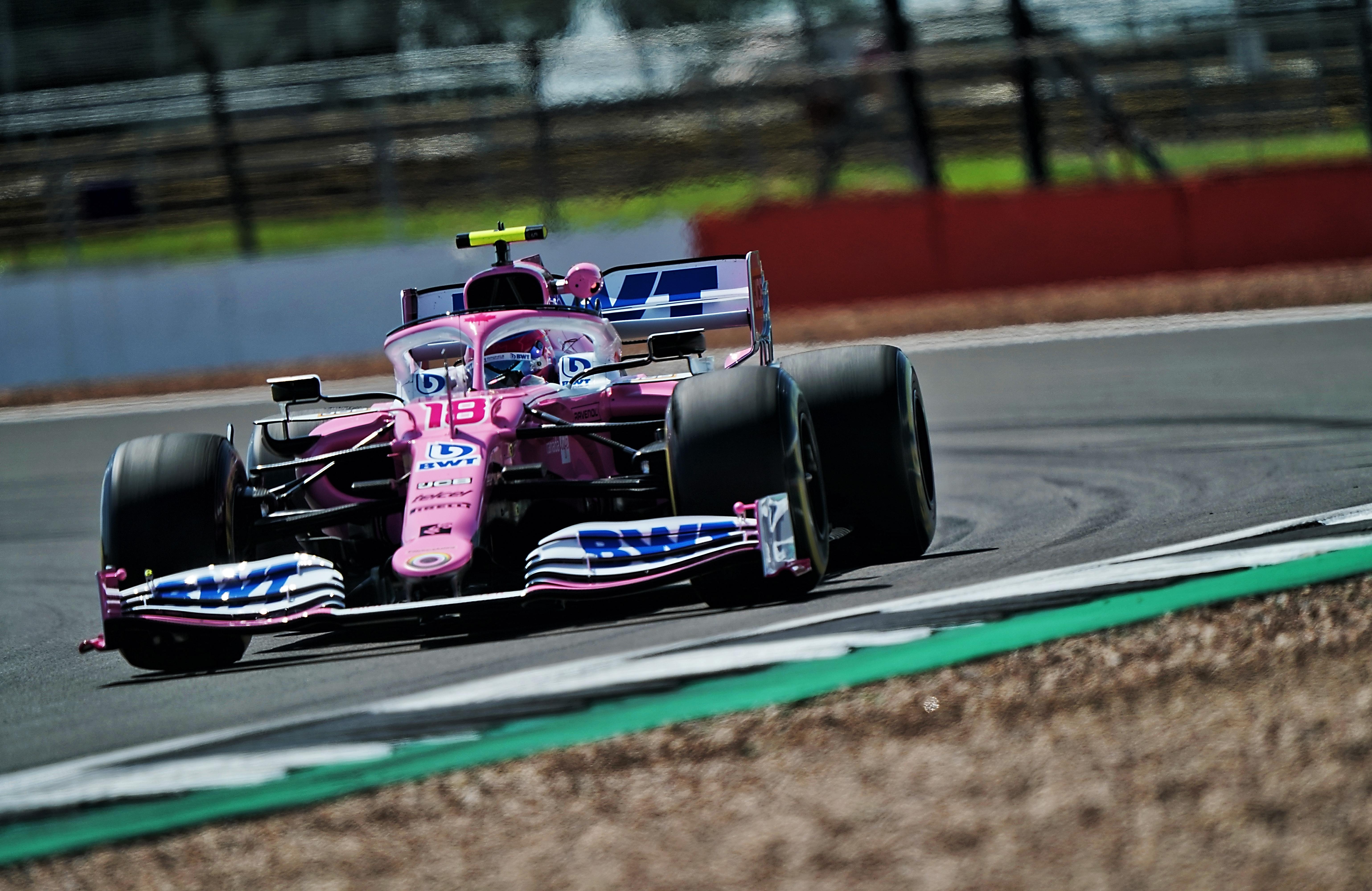 Lance Stroll Racing Point British Grand Prix practice 2020 Silverstone