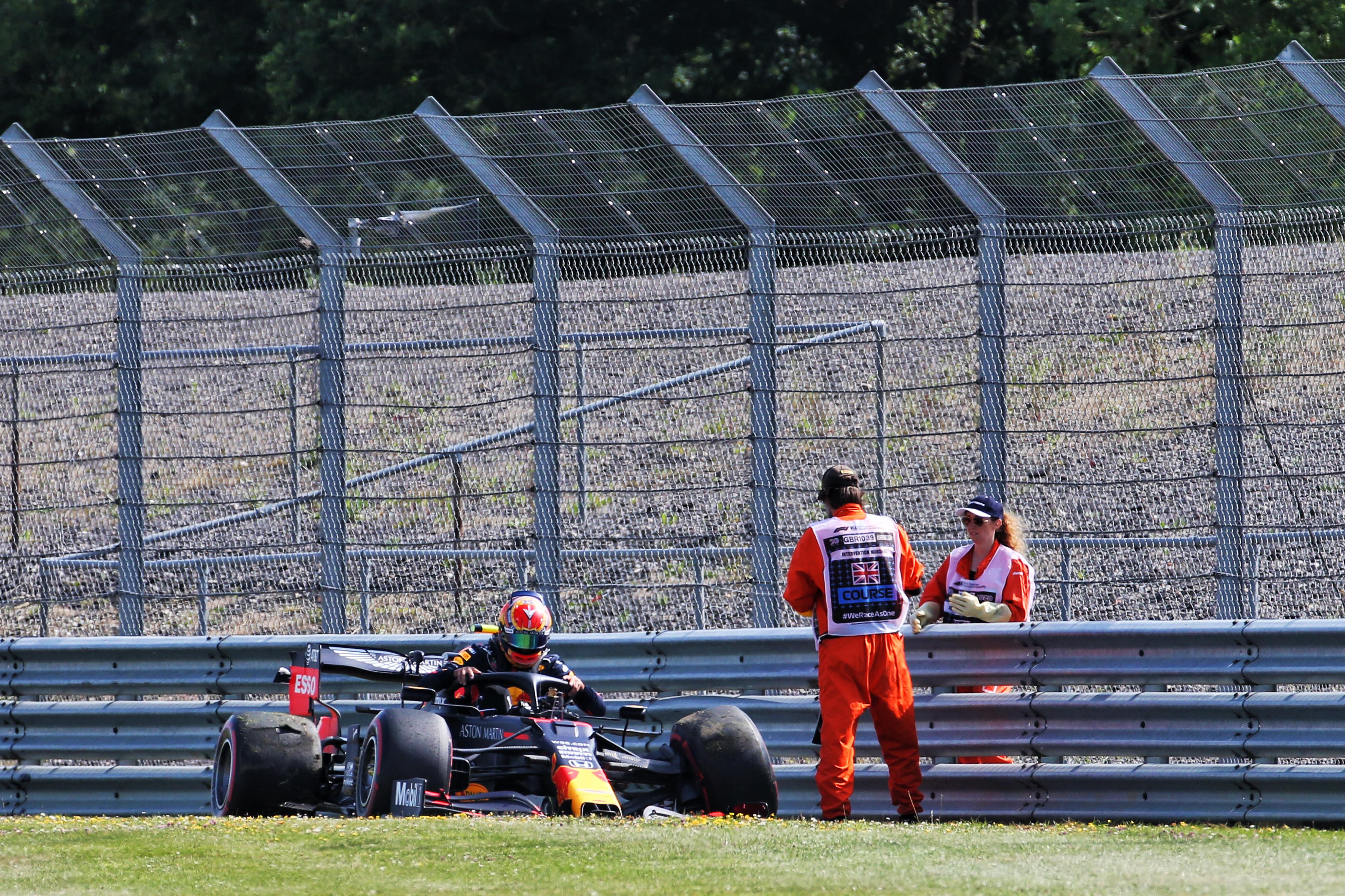 Alex Albon crash British Grand Prix practice 2020