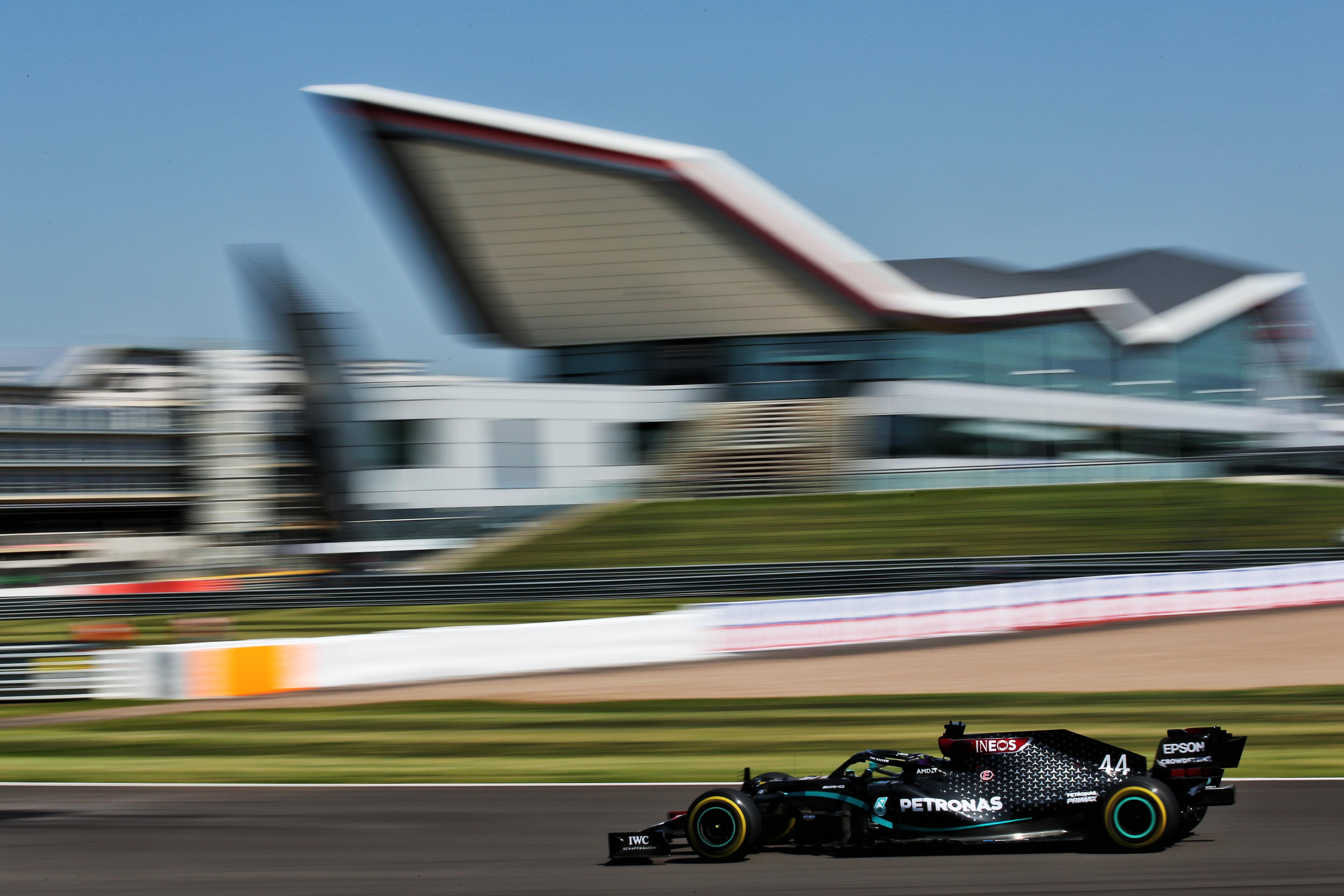 Lewis Hamilton Mercedes British Grand Prix practice 2020 Silverstone