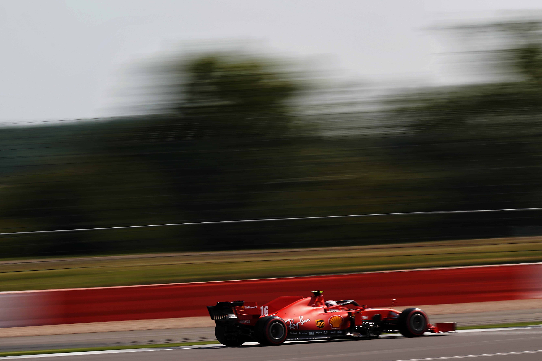 Charles Leclerc Ferrari British Grand Prix practice 2020 Silverstone