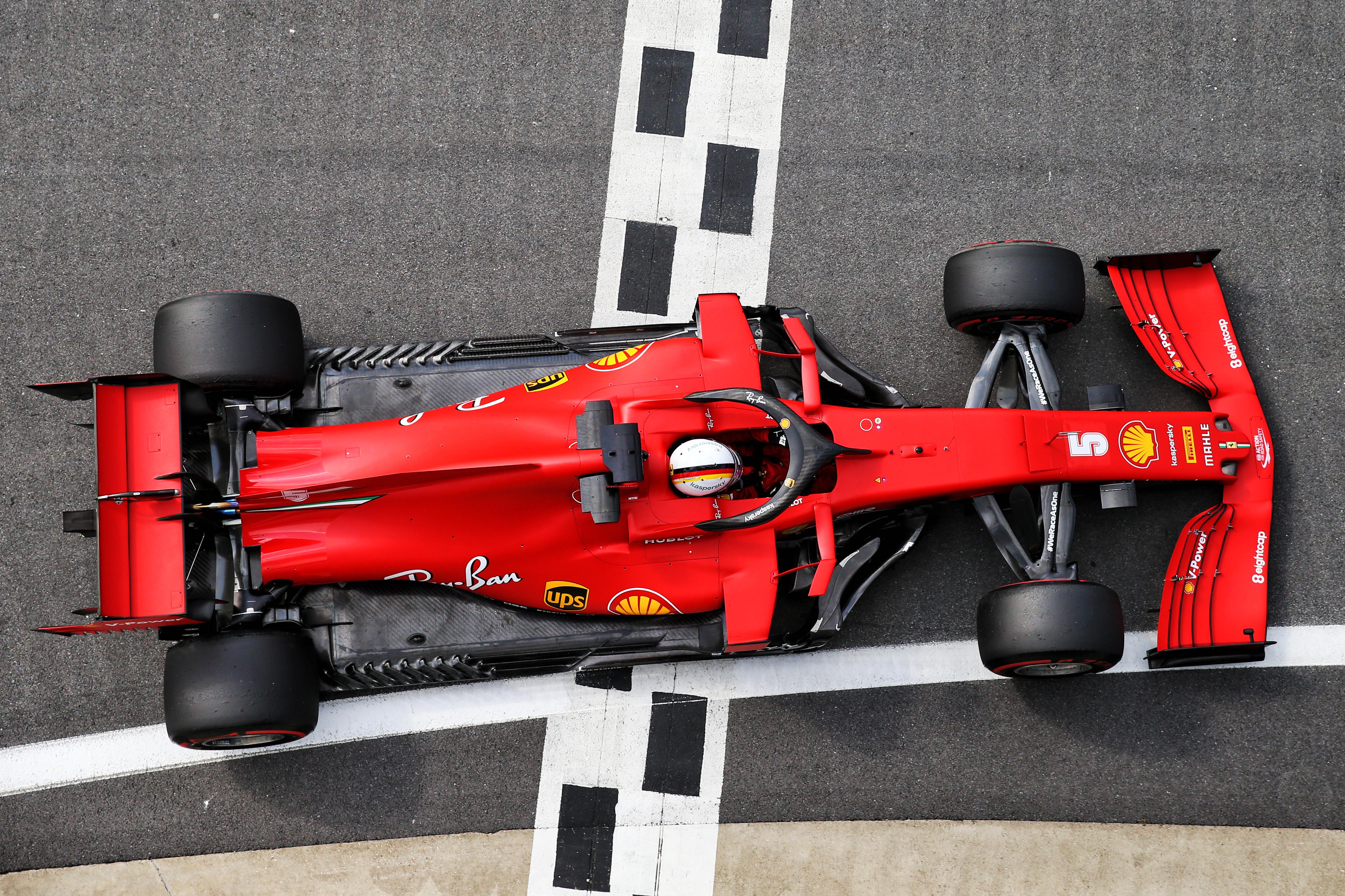 Sebastian Vettel Ferrari British Grand Prix practice Silverstone 2020