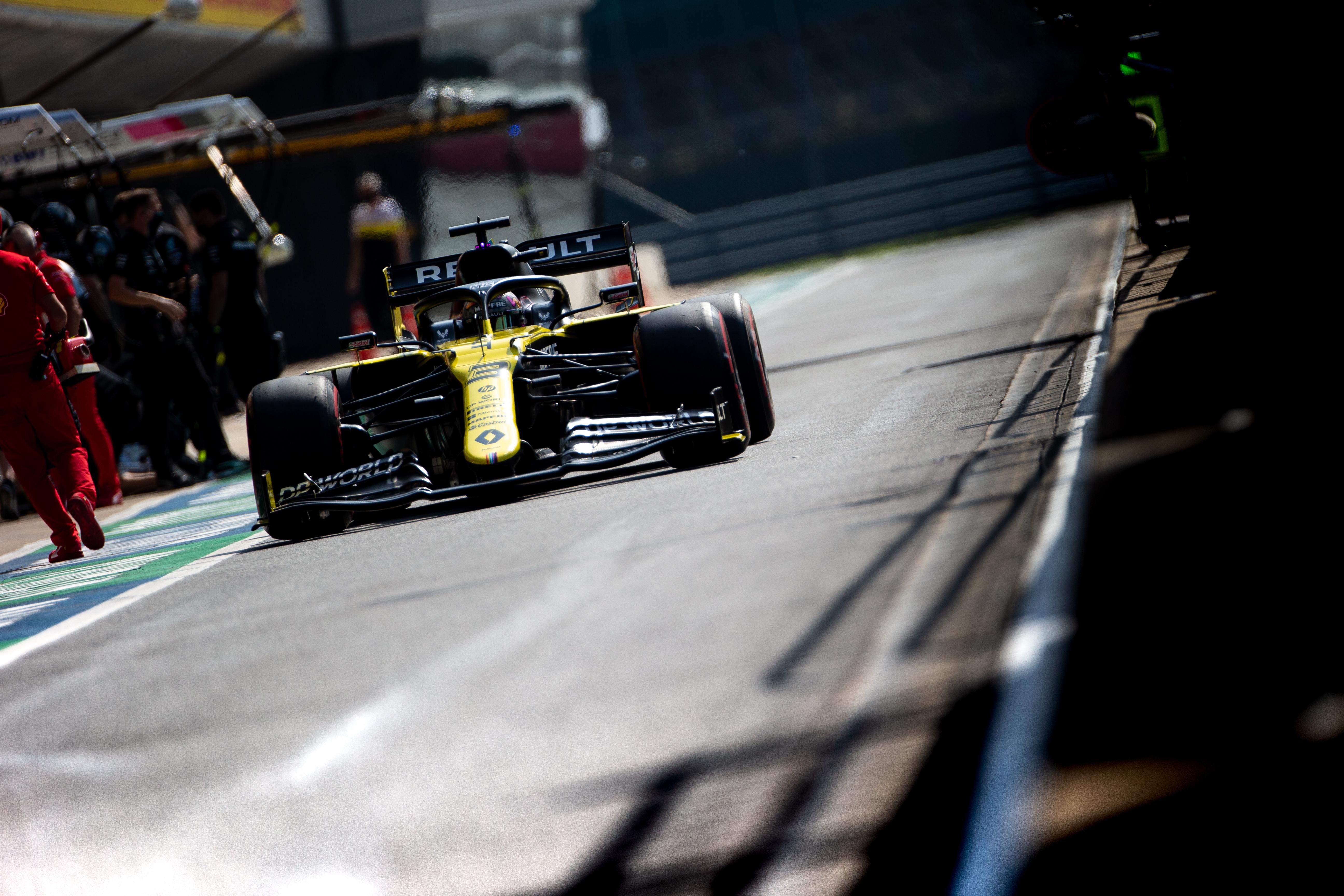 Daniel Ricciardo Renault British Grand Prix practice Silverstone 2020
