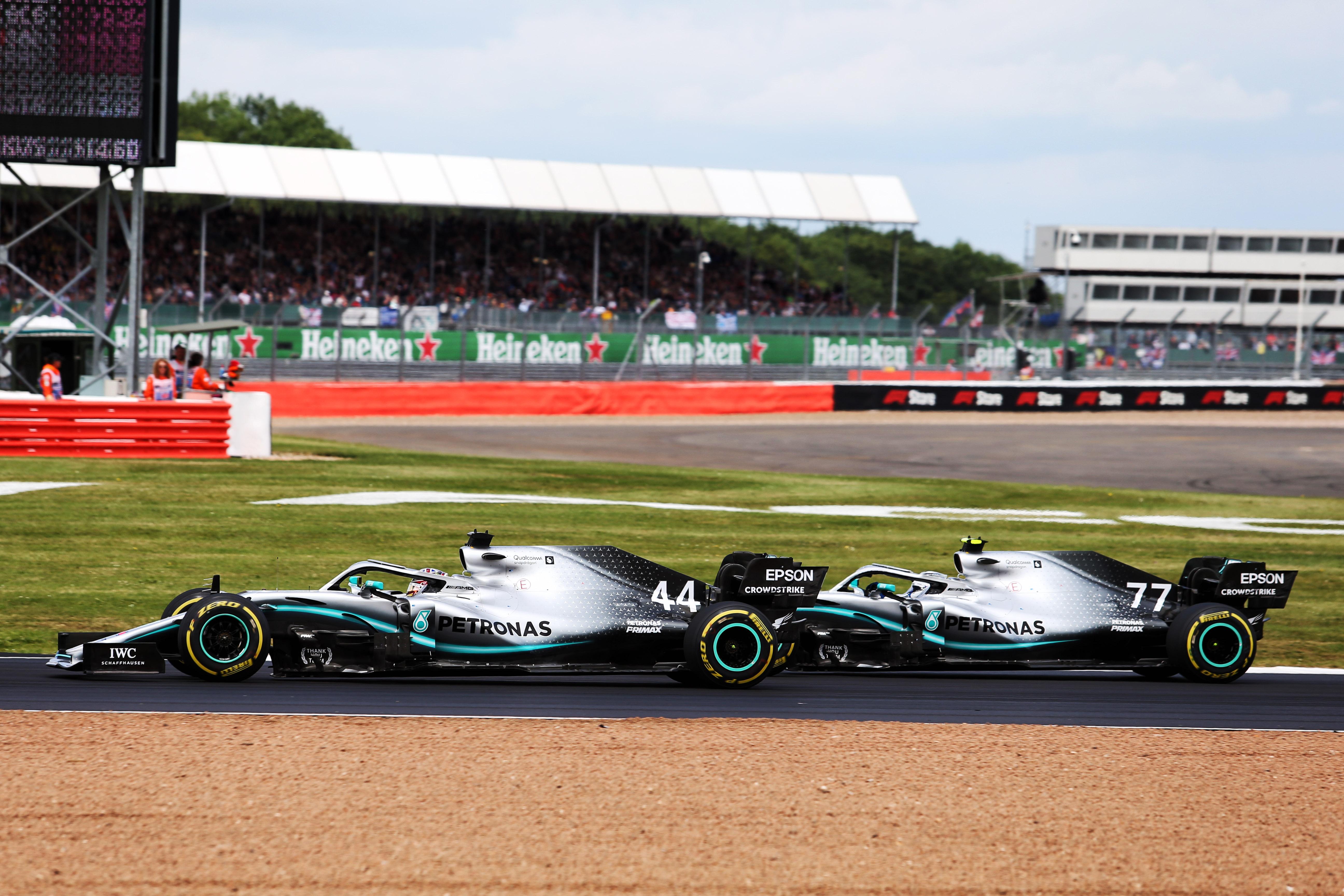 Lewis Hamilton Valterri Bottas Mercedes British Grand Prix 2019 Silverstone