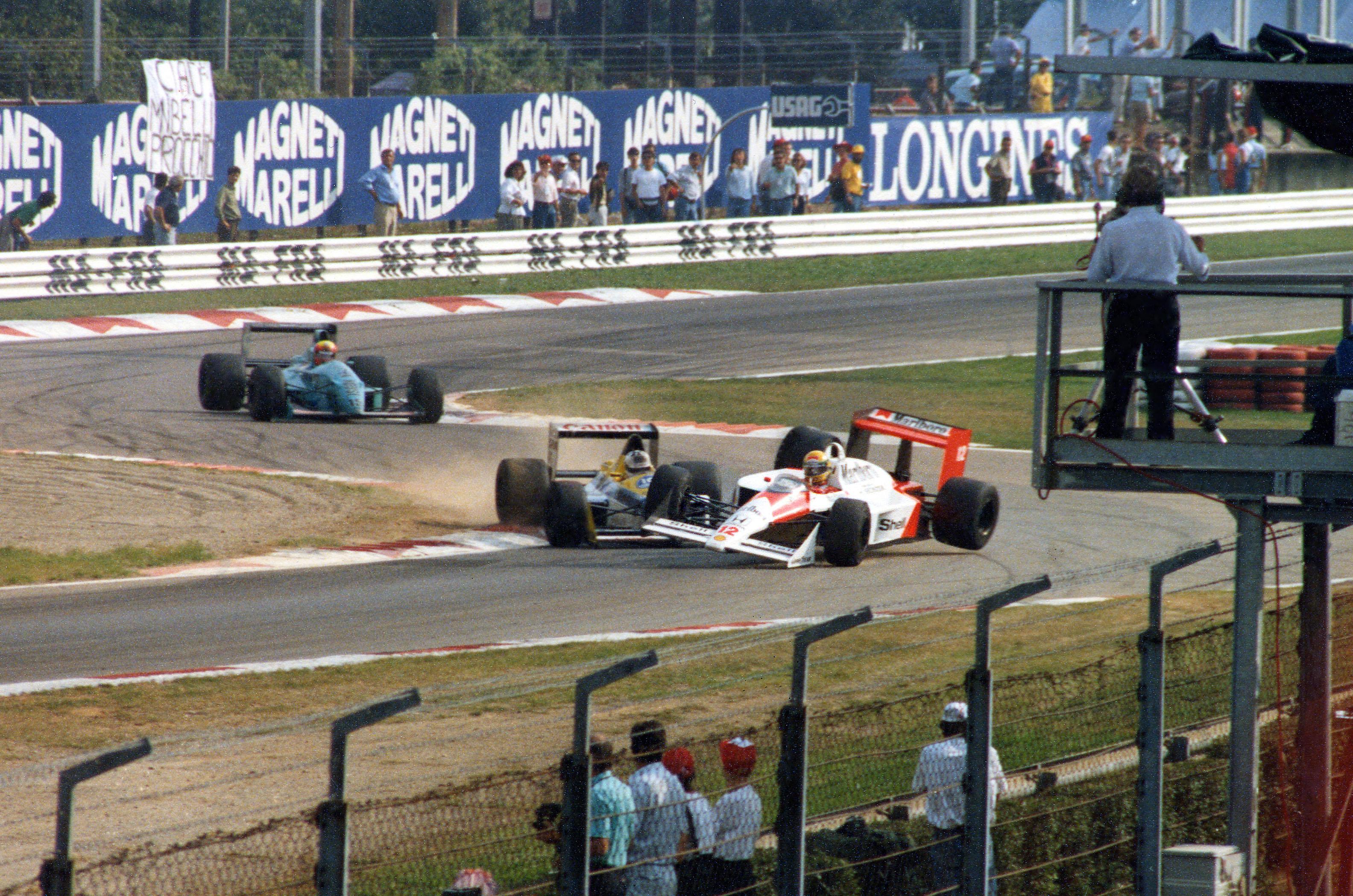 Jean-Louis Schlesser Ayrton Senna collision Monza Italian Grand Prix 1988 McLaren Williams F1