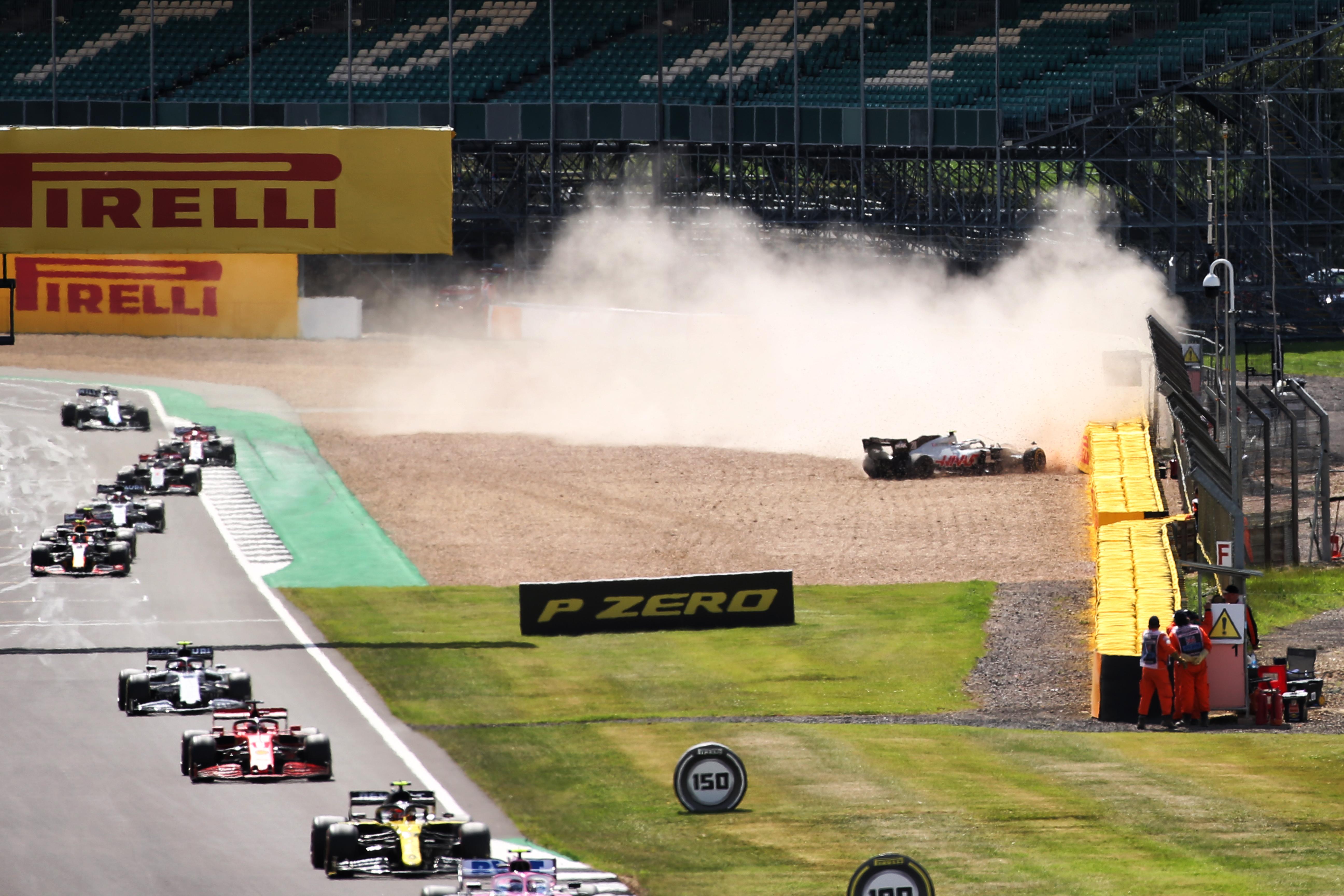 Kevin Magnussen crash British Grand Prix 2020 Silverstone