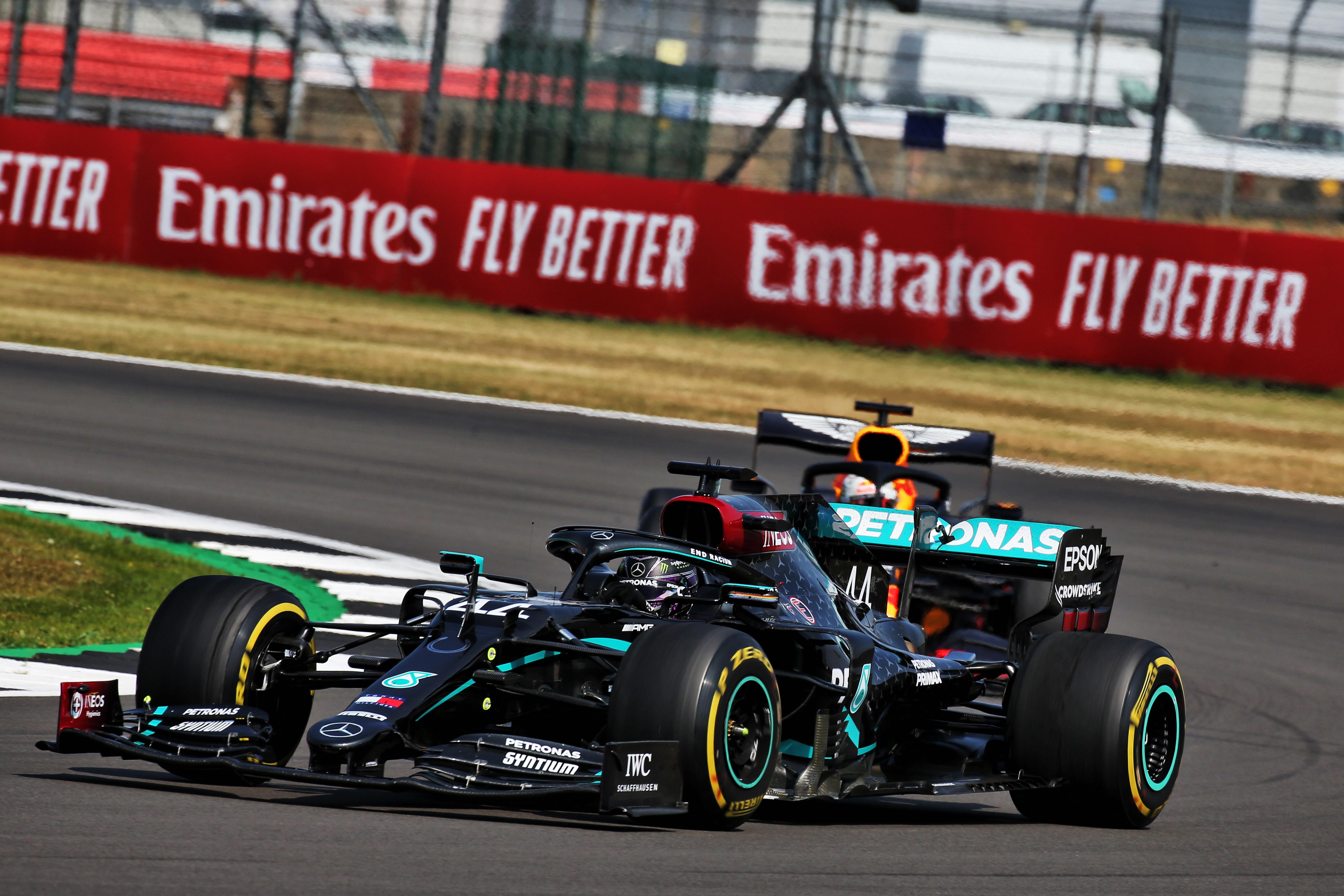 Lewis Hamilton Mercedes Max Verstappen Red Bull Silverstone 2020