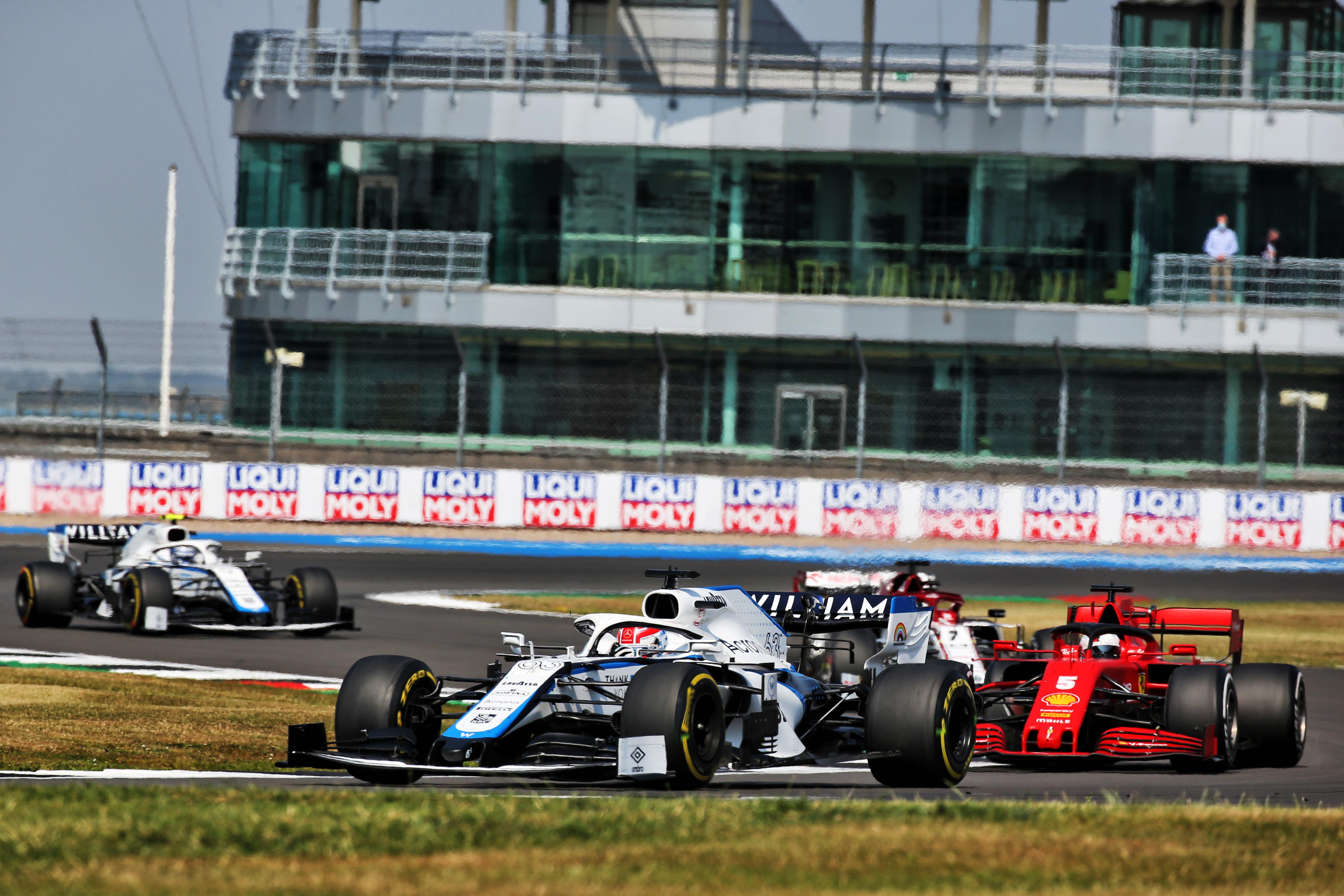 George Russell Sebastian Vettel Williams Ferrari F1 2020 Silverstone British Grand Prix 2020