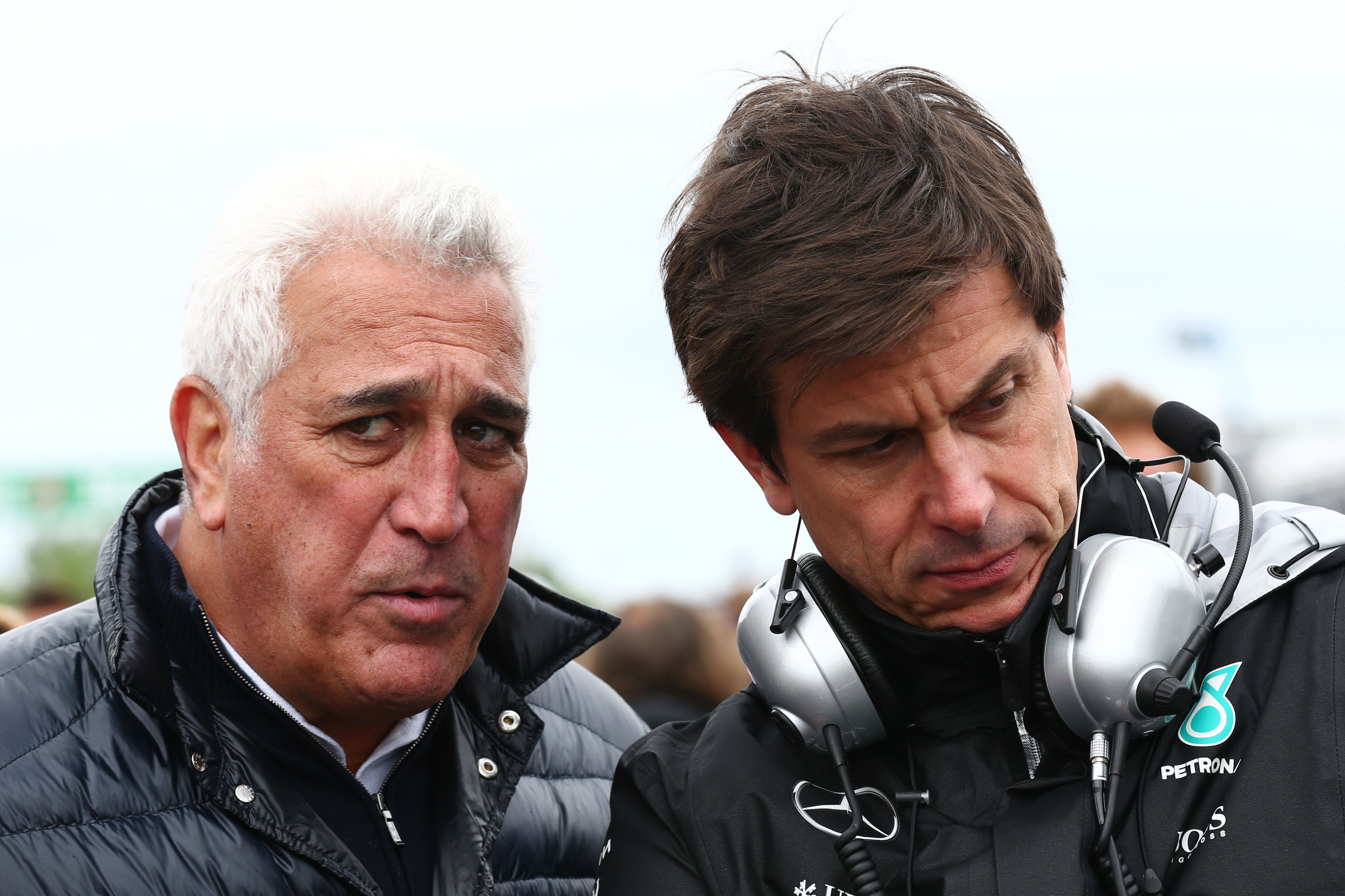 Toto Wolff Lawrence Stroll Mercedes Aston Martin F1 2018