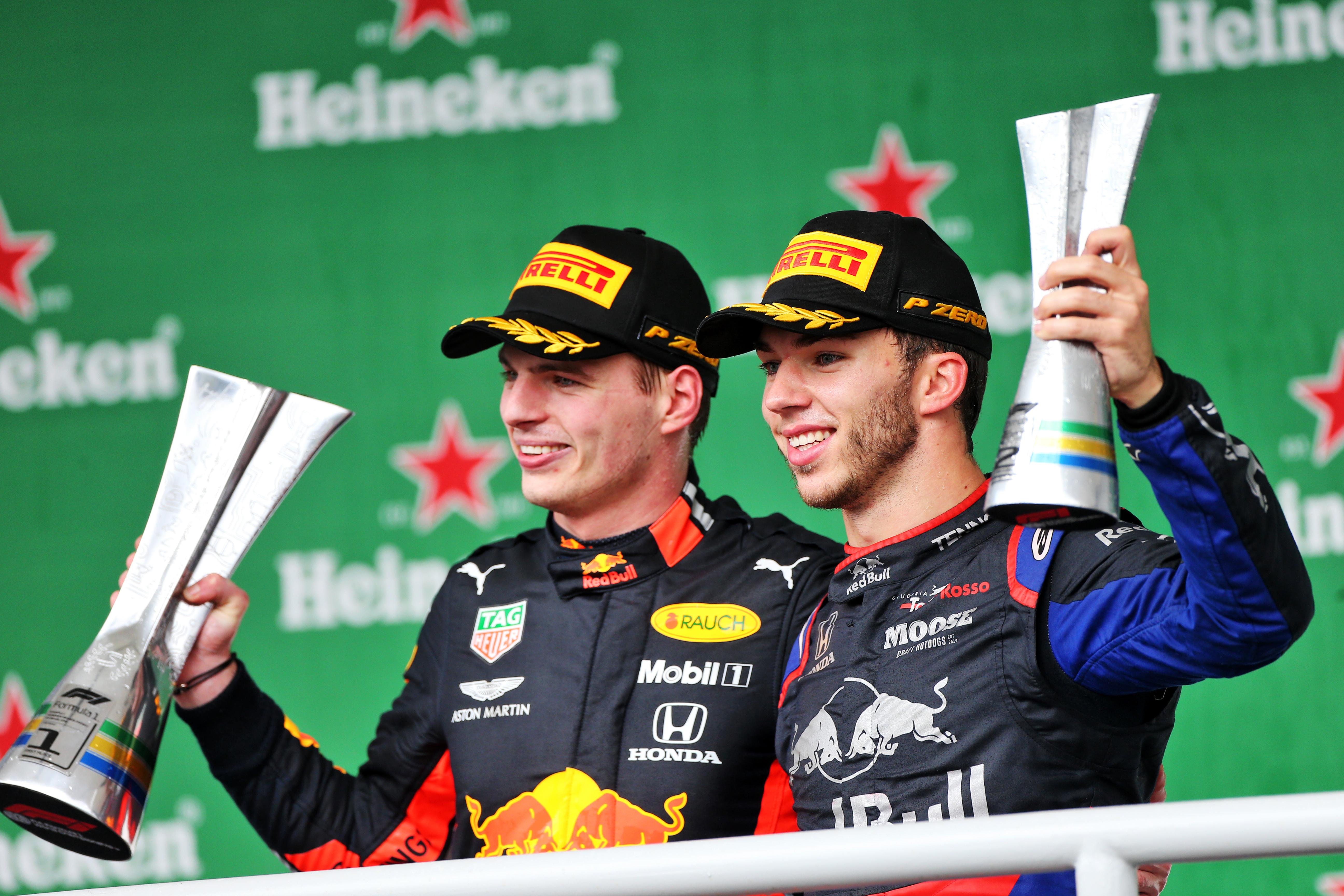 Pierre Gasly AlphaTauri Max Verstappen Red Bull F1 2019