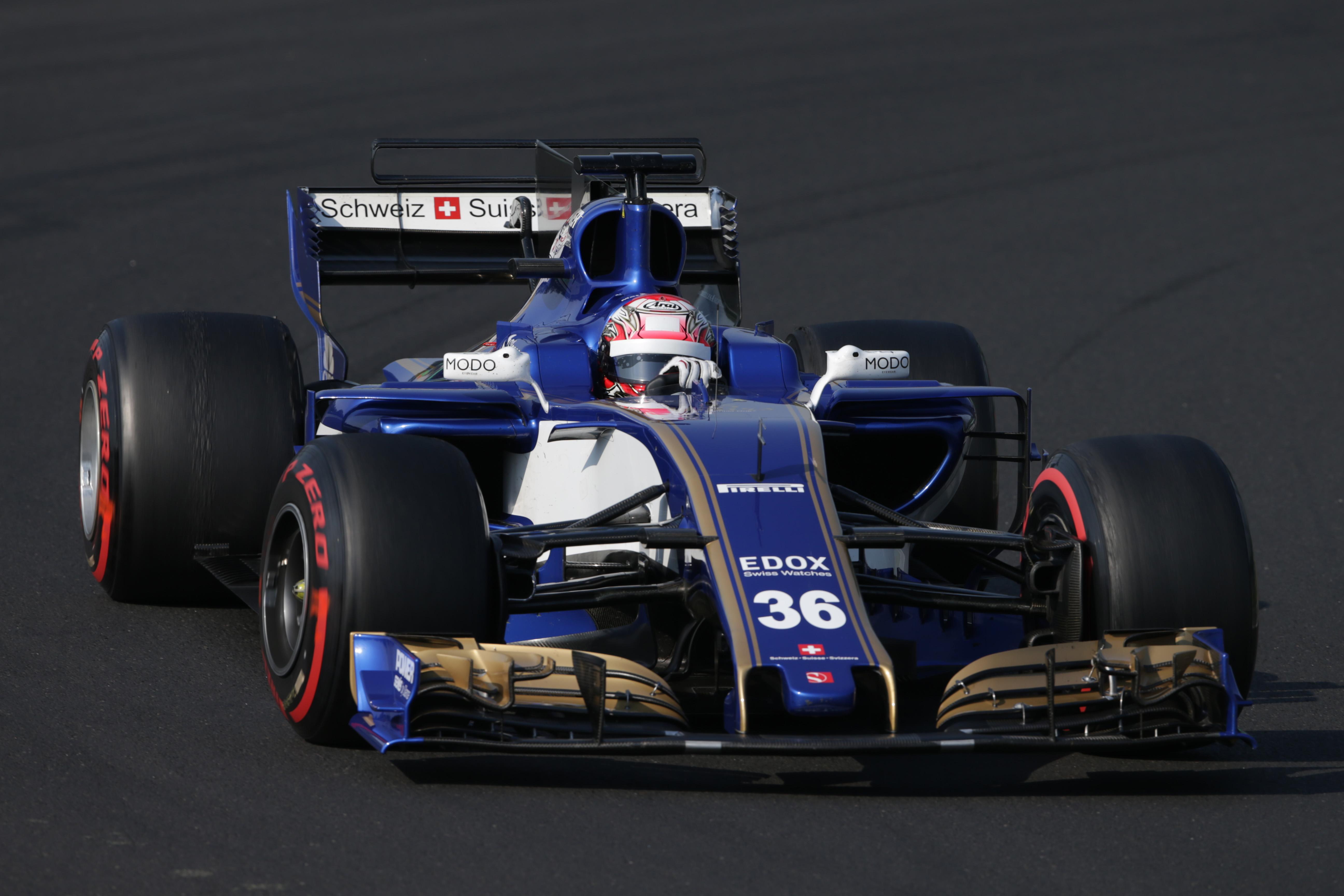 Nobuharu Matsushita Sauber Hungary F1 testing 2017