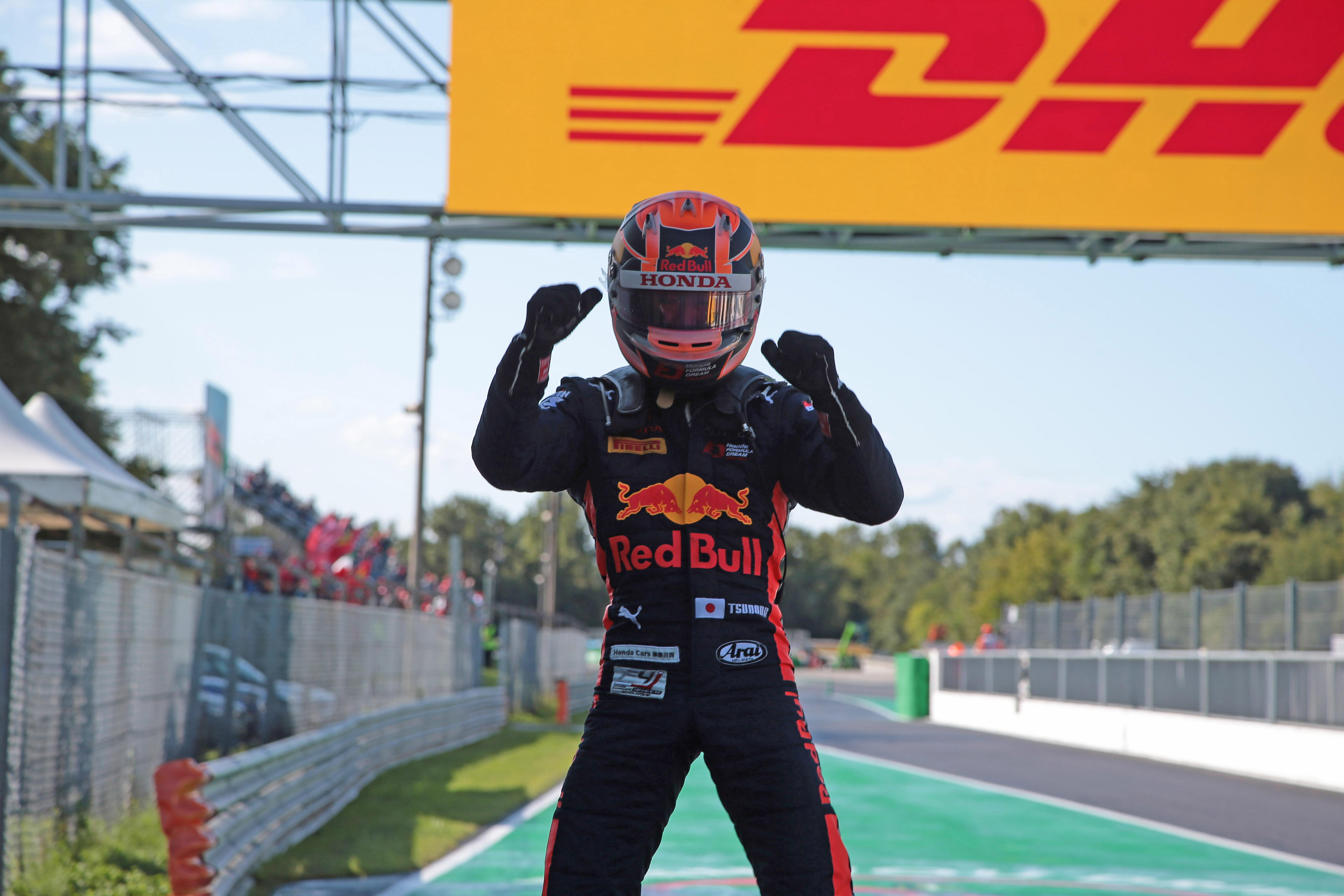 Yuki Tsunoda F3 win 2019
