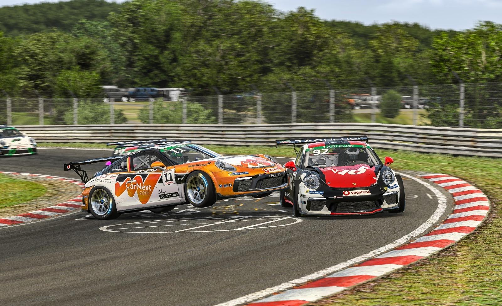 Porsche Esports Supercup R8 Rogers And Benecke Crash