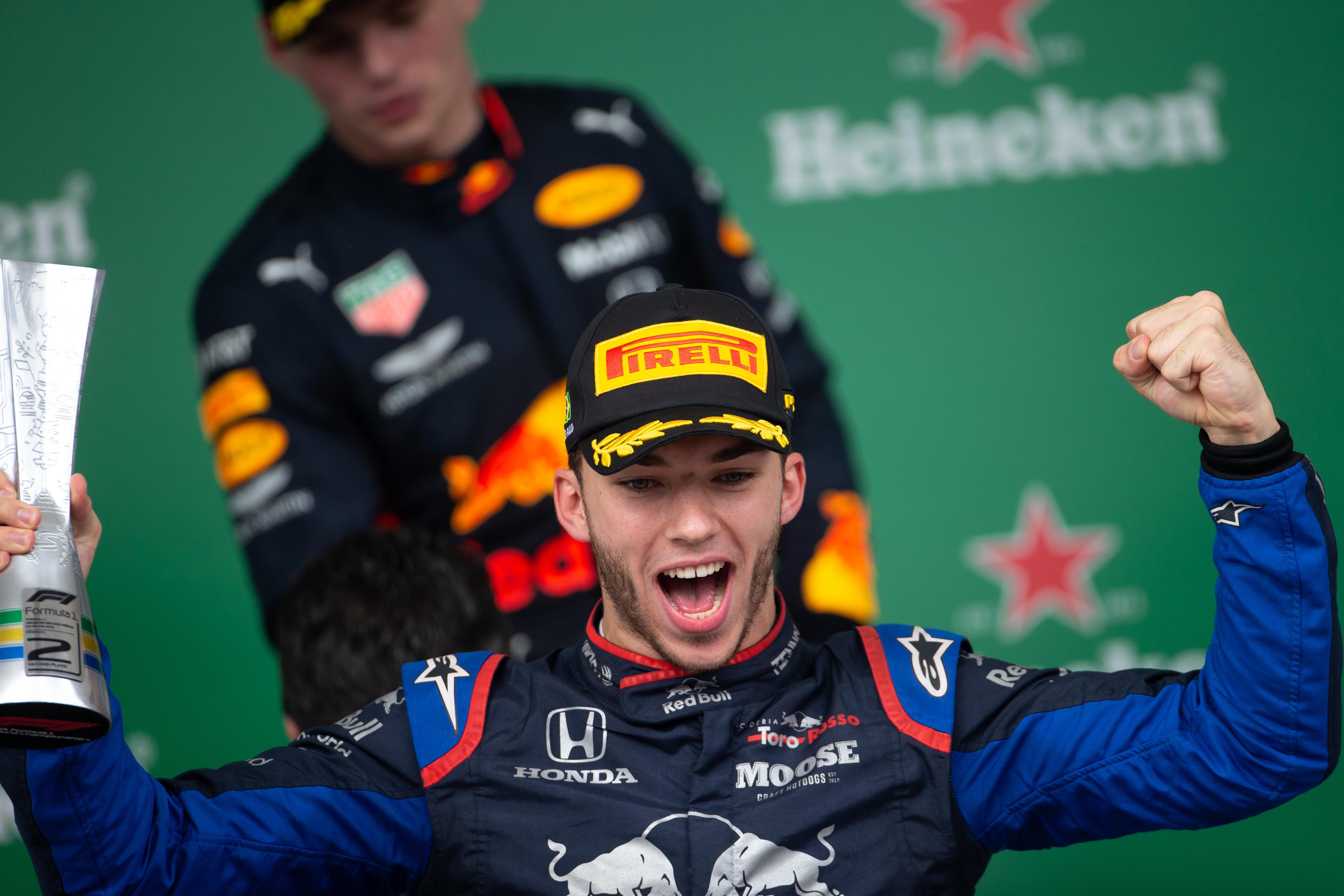 Pierre Gasly Brazilian Grand Prix podium 2019
