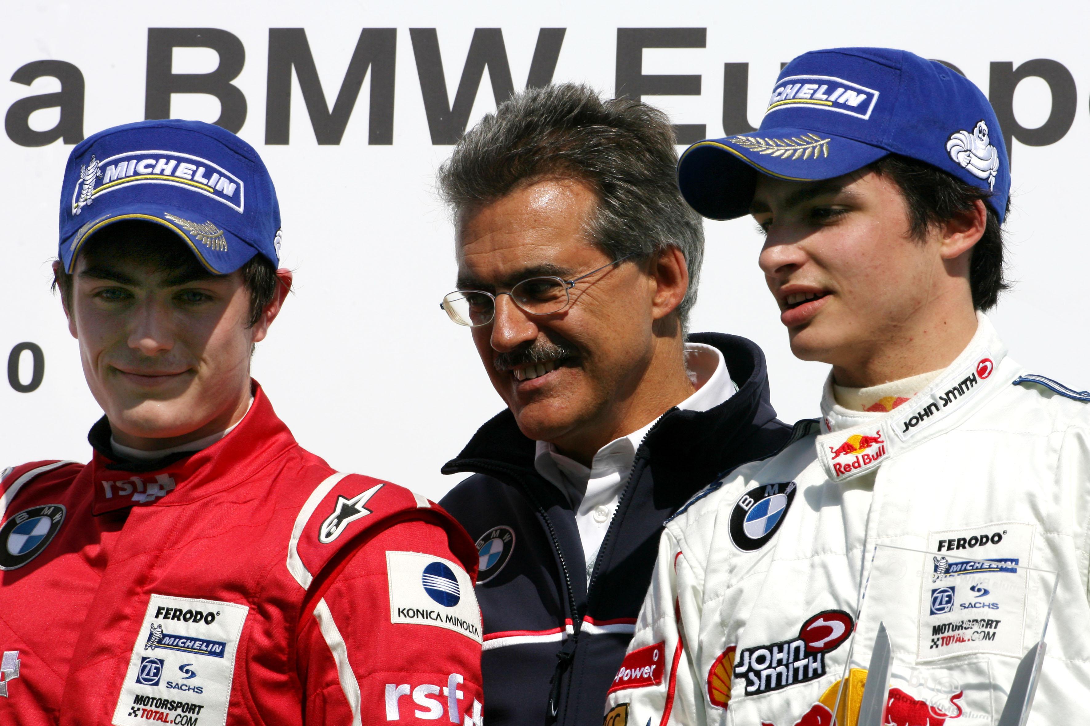 Formula Bmw Europe 2010, Rd 01 & 02, Barcelona, Spain, Saturday Podium