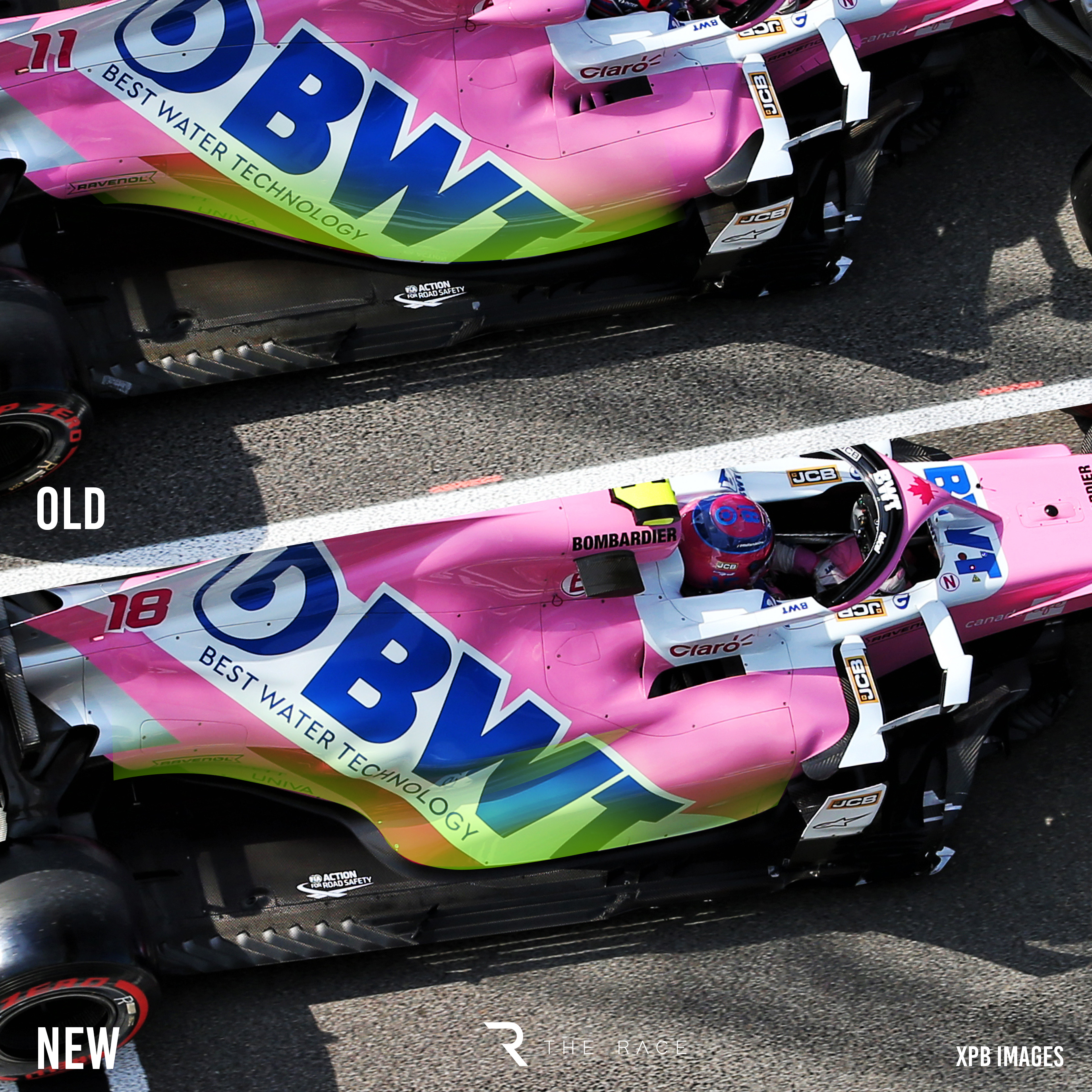 Racing Point sidepod comparison