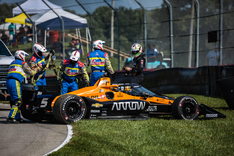 Pato O'Ward crash Mid-Ohio IndyCar practice 2020