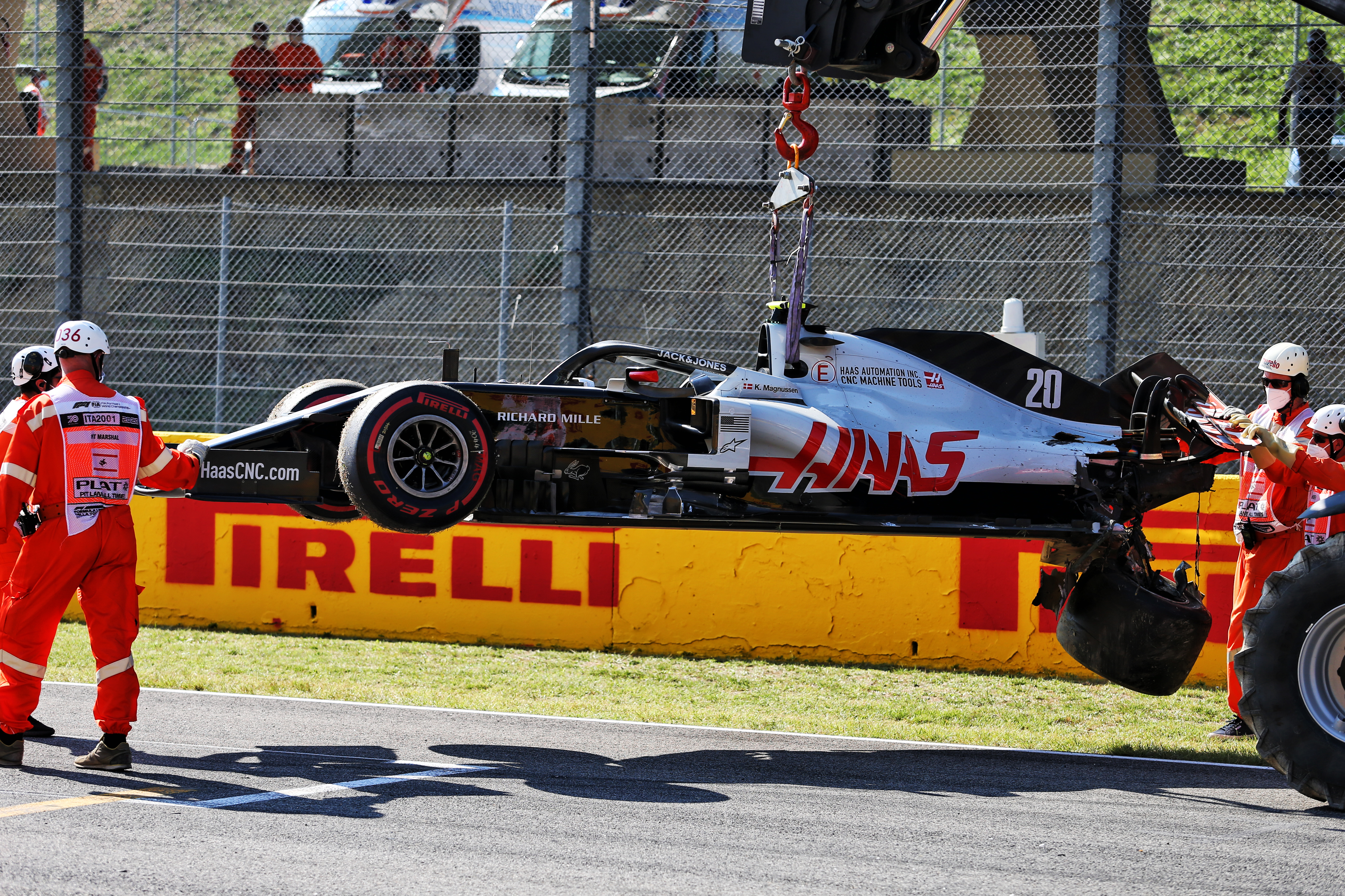 Magnussen Kvyat Accused Of Rule Breach Over Restart Pile Up The Race