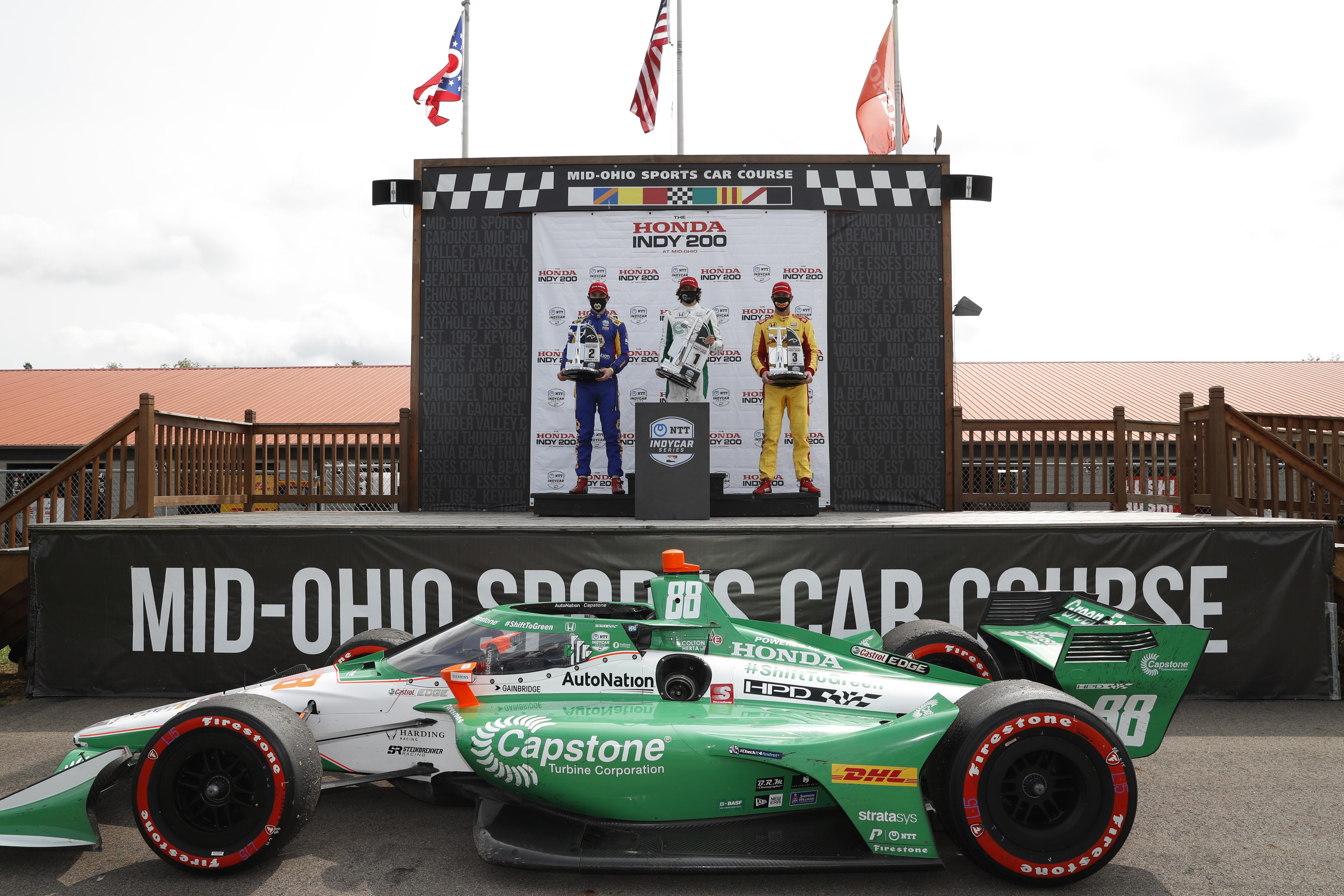 Colton Herta wins Mid-Ohio IndyCar 2020