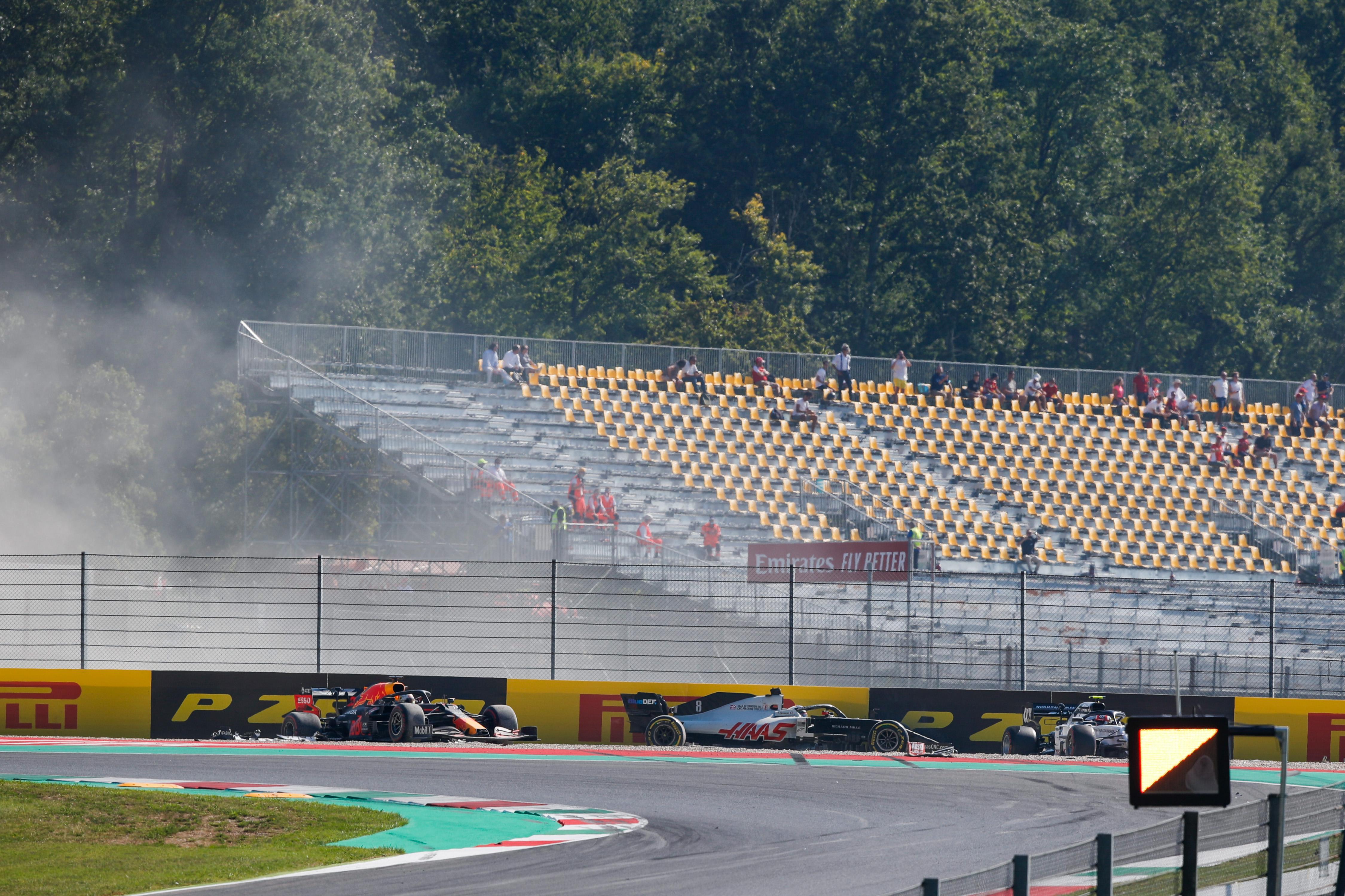 Mugello crash Max Verstappen Romain Grosjean