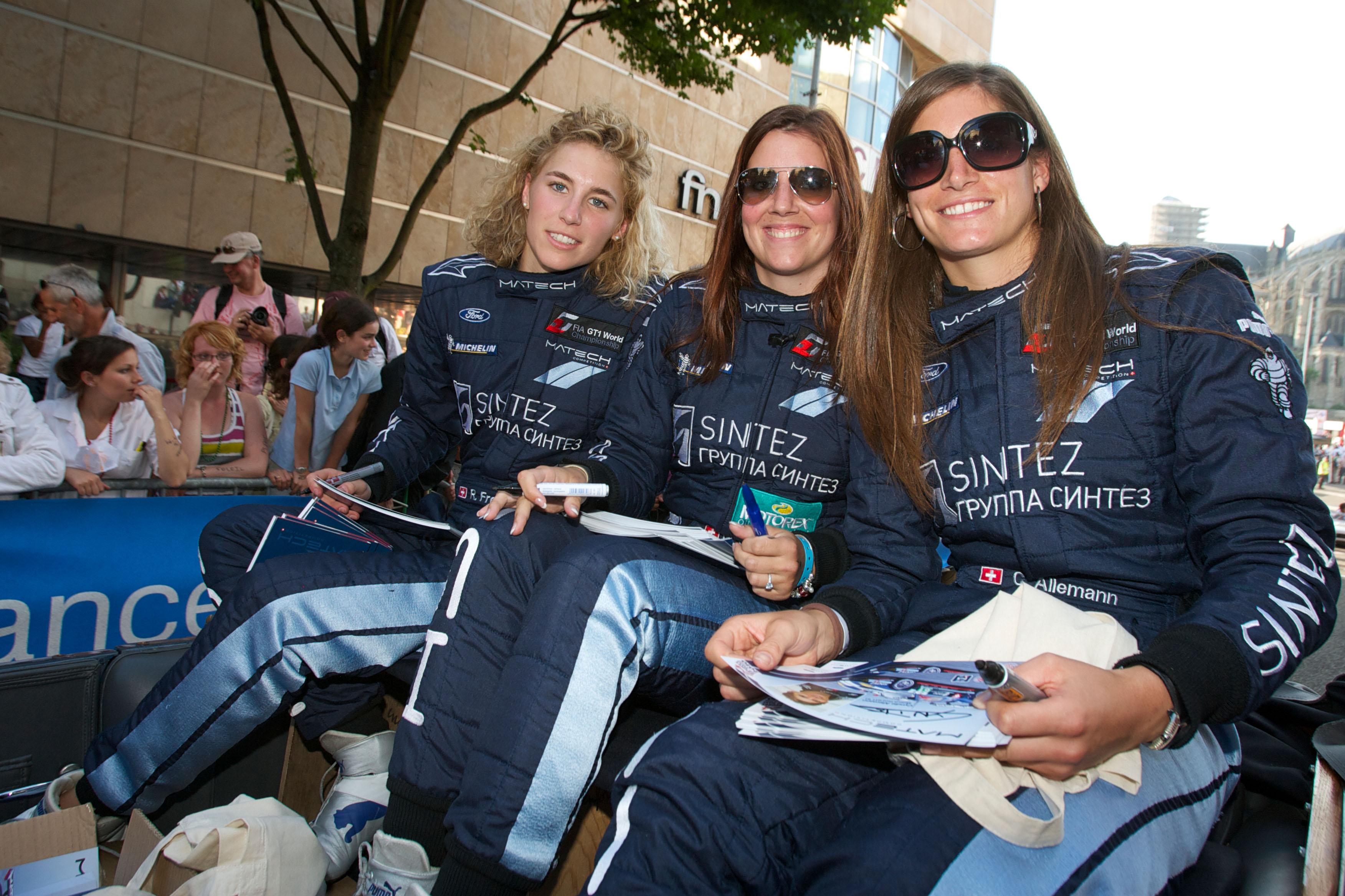 Rahel Frey, Natacha Gachnang and Cyndie Allemann Le Mans 2010