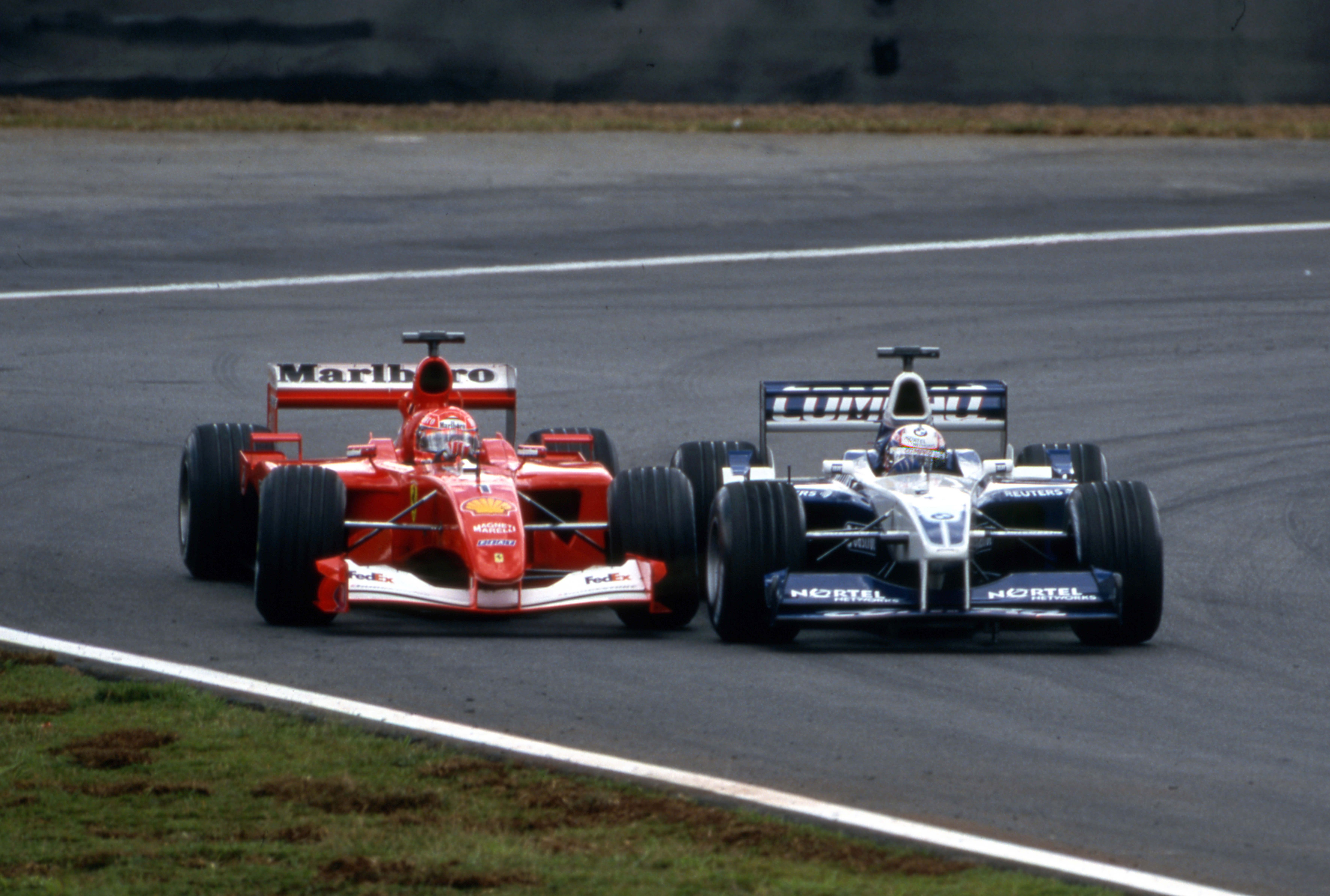 Michael Schumacher Juan Pablo Montoya Brazilian Grand Prix 2001