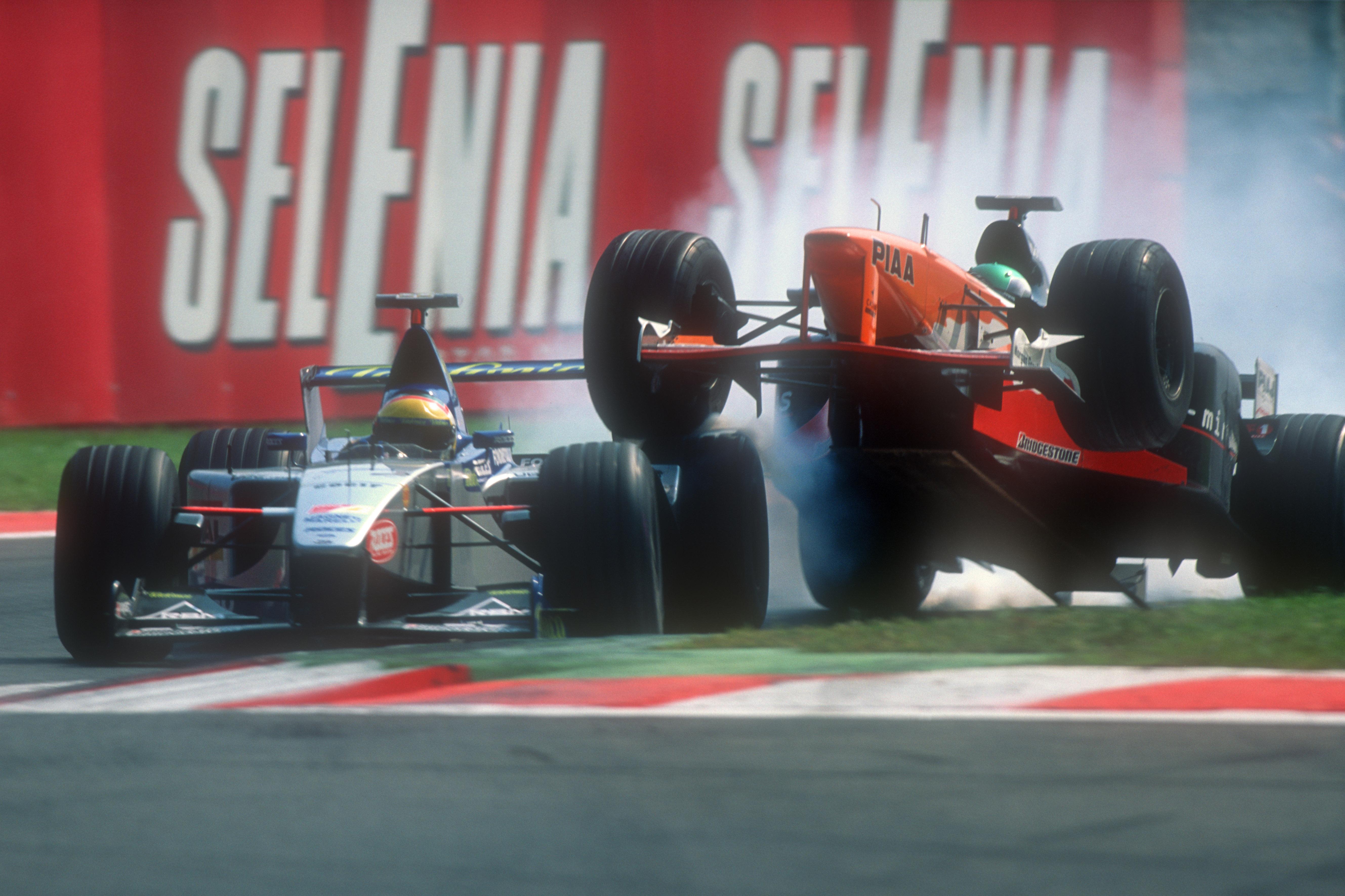 Luca Badoer Tora Takagi collision Monza 1999
