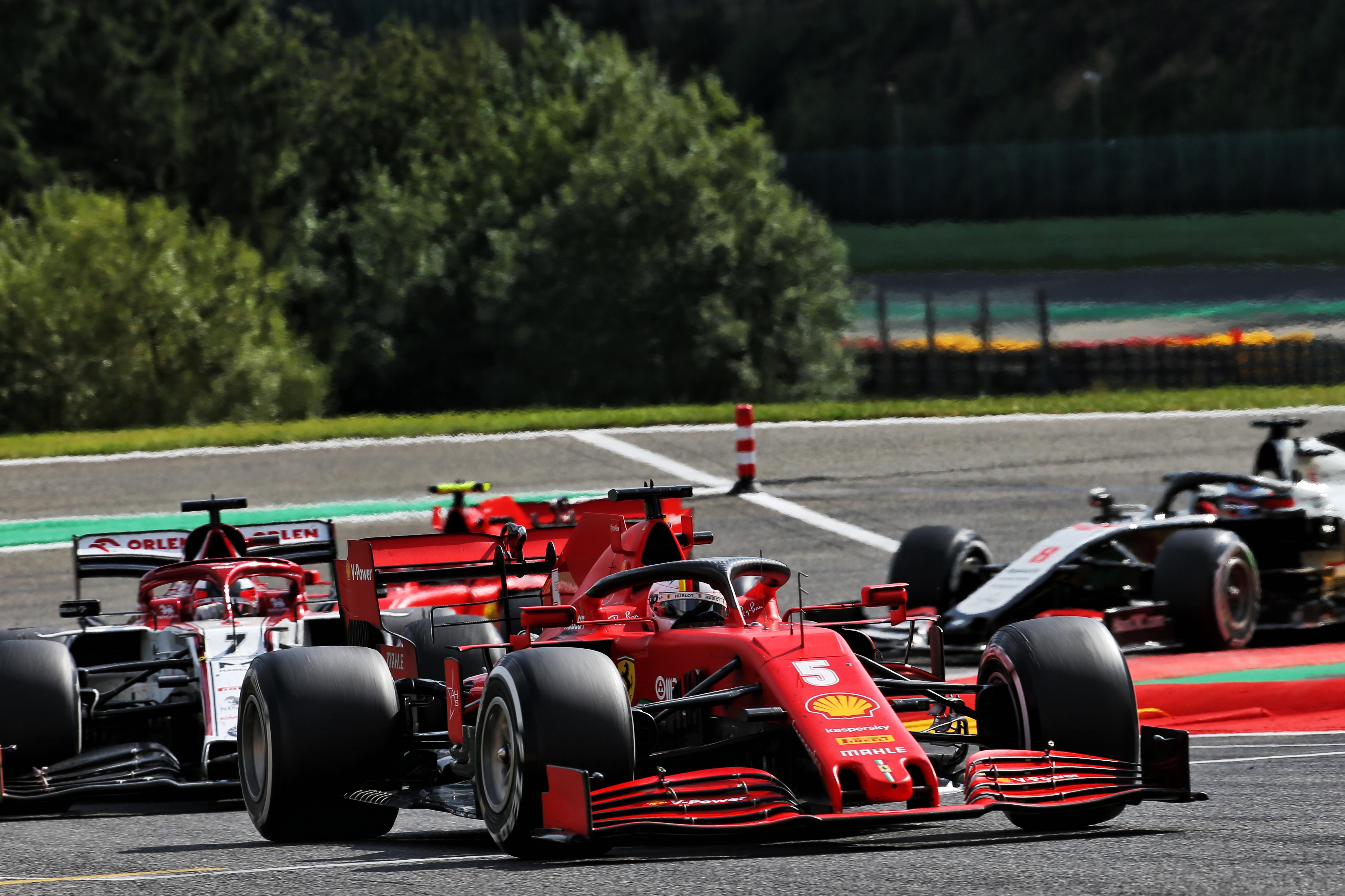 Sebastian Vettel Ferrari Belgian Grand Prix 2020 Spa