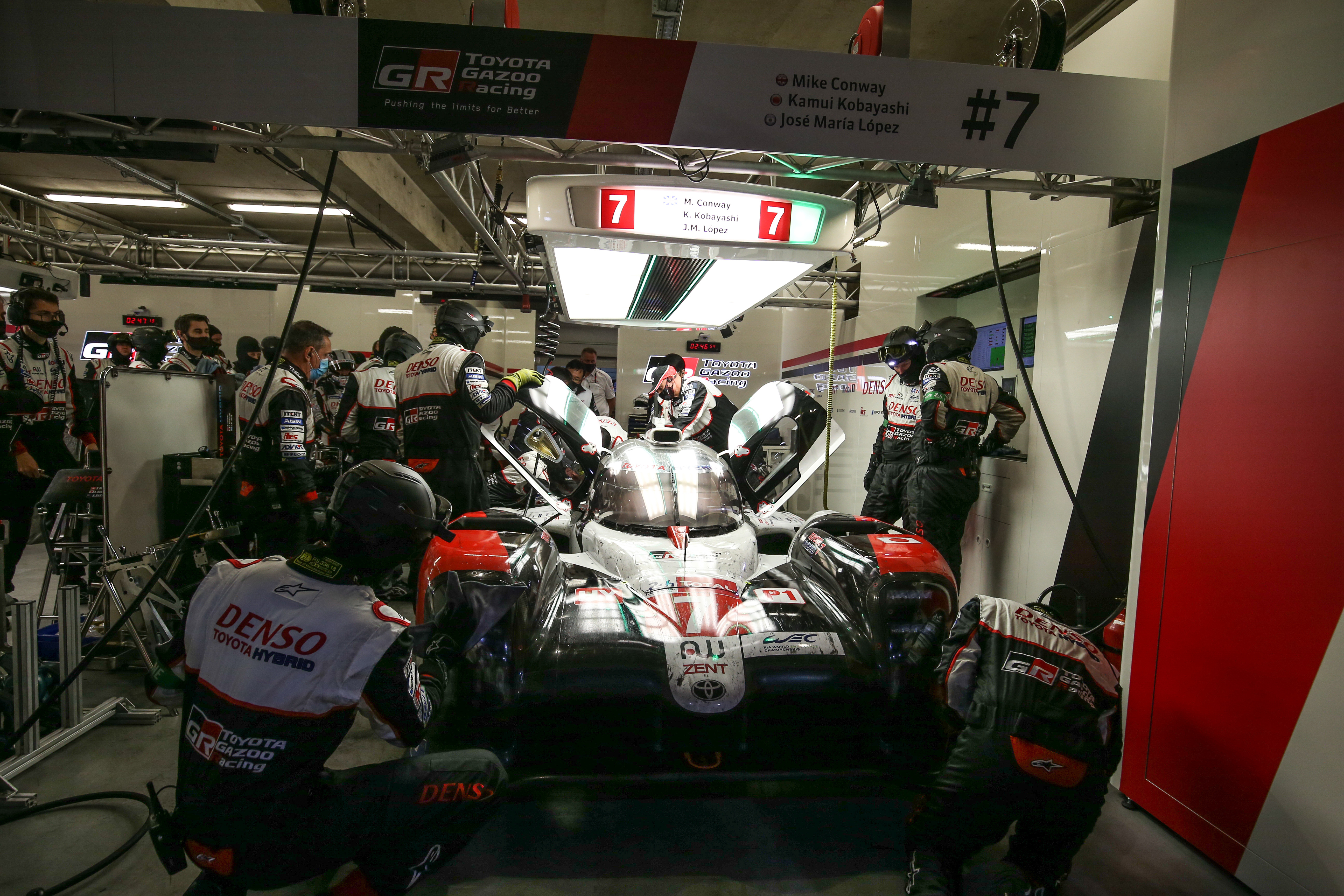 Toyota in garage Le Mans 24 Hours 2020