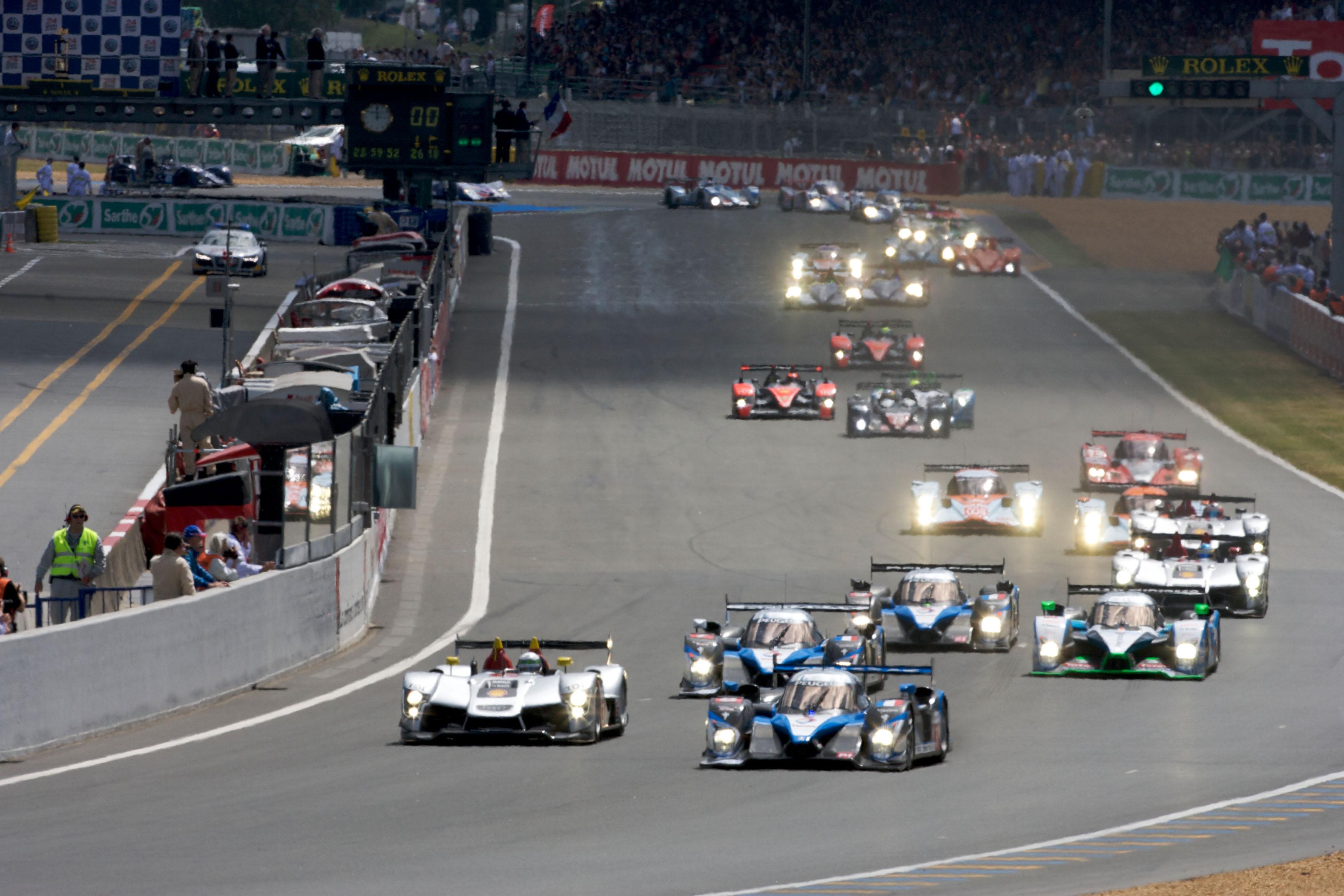 Le Mans 2009 Audi Peugeot