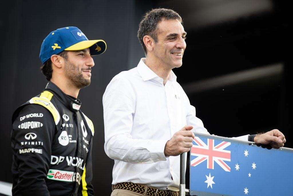 Daniel Ricciardo Cyril Abiteboul F1