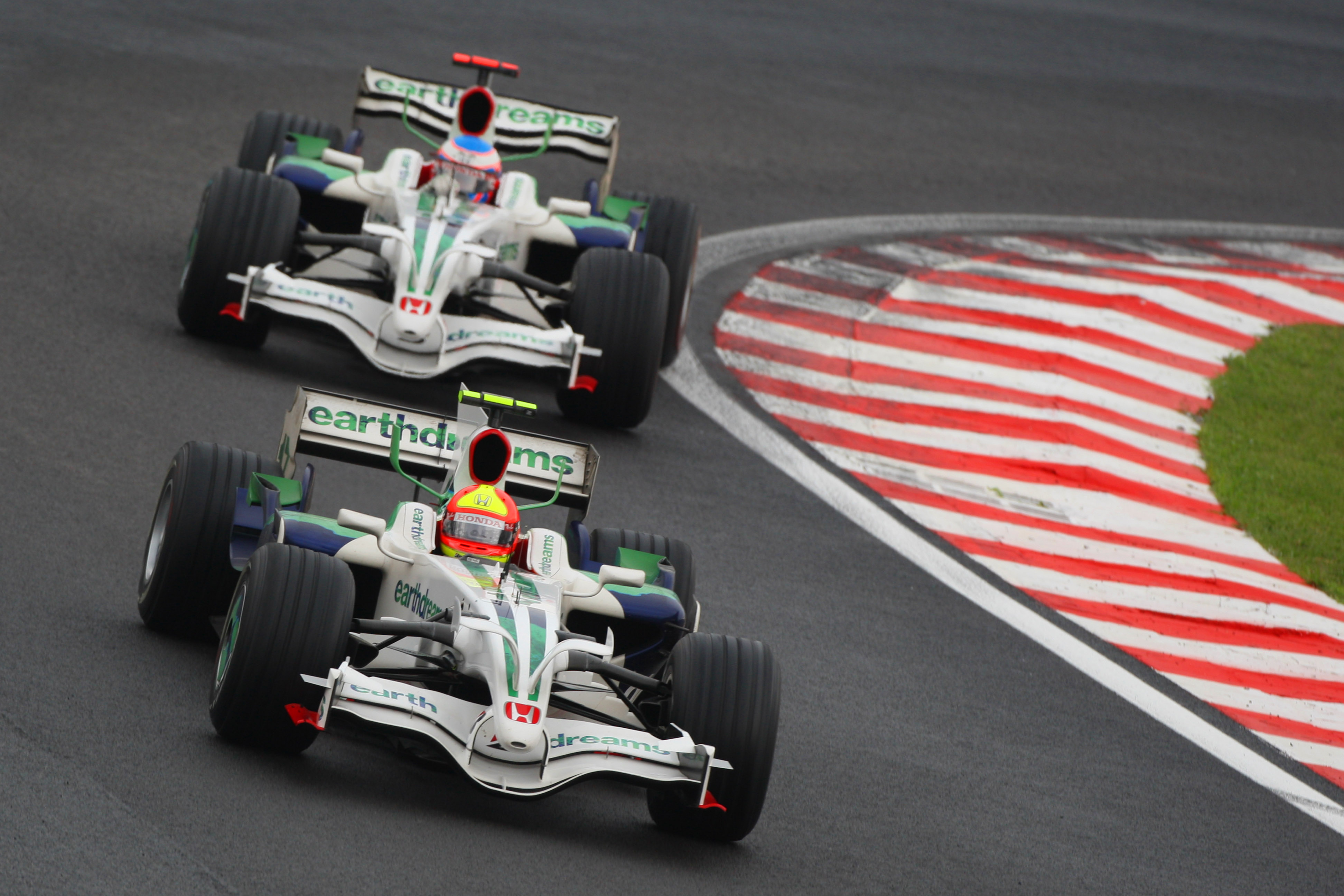 Rubens Barrichello Jenson Button Honda Brazilian Grand Prix 2008 Interlagos