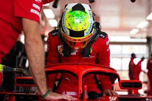 Mick Schumacher Ferrari test