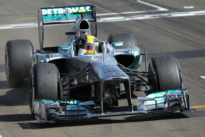 Lewis Hamilton Mercedes wins Hungarian Grand Prix 2013