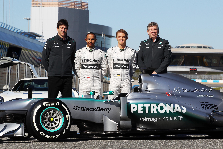 Mercedes F1 launch 2013