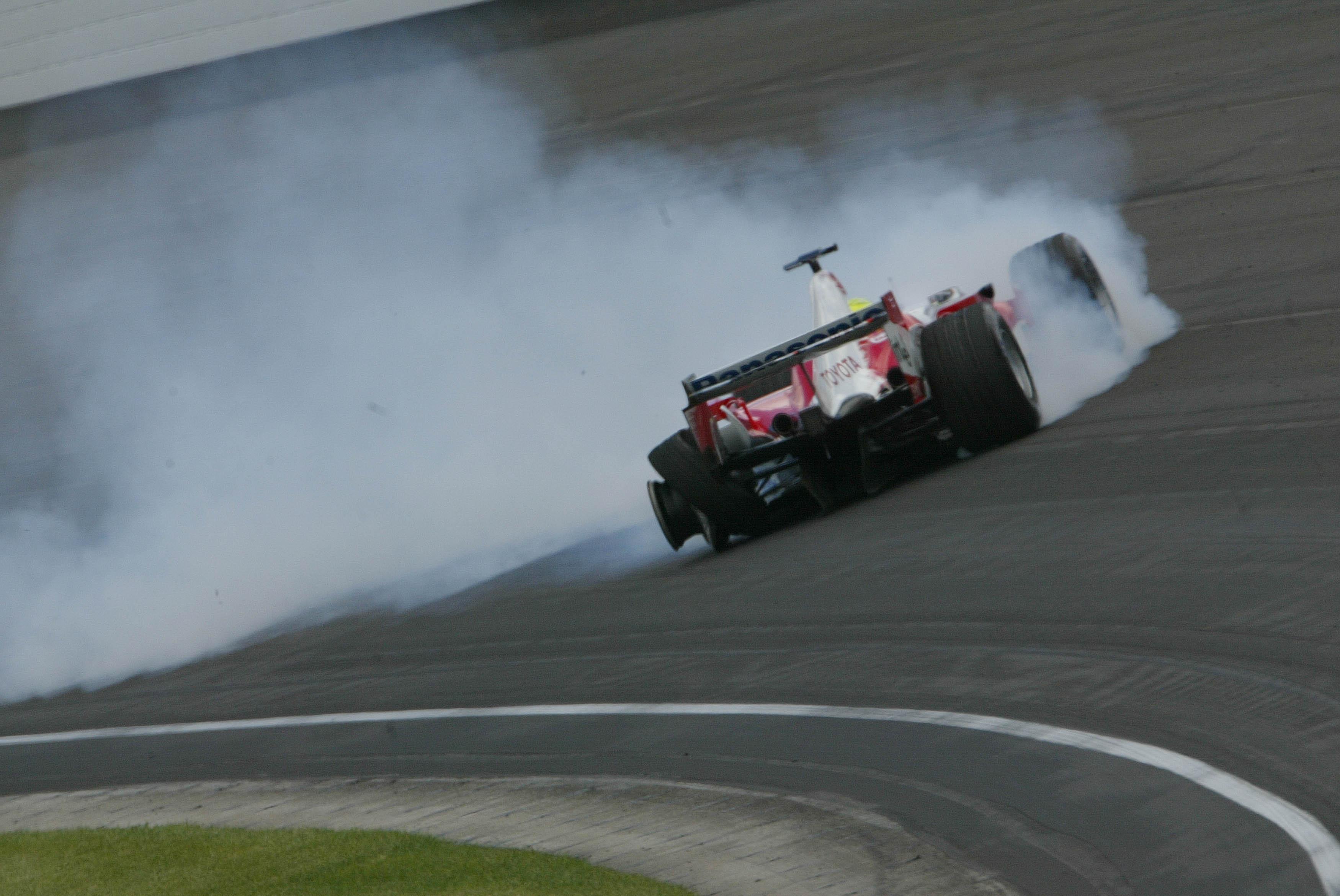 Ralf Schumacher Toyota US Grand Prix crash Indianapolis 2005