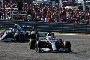 Lewis Hamilton Valtteri Bottas Mercedes US Grand Prix 2019