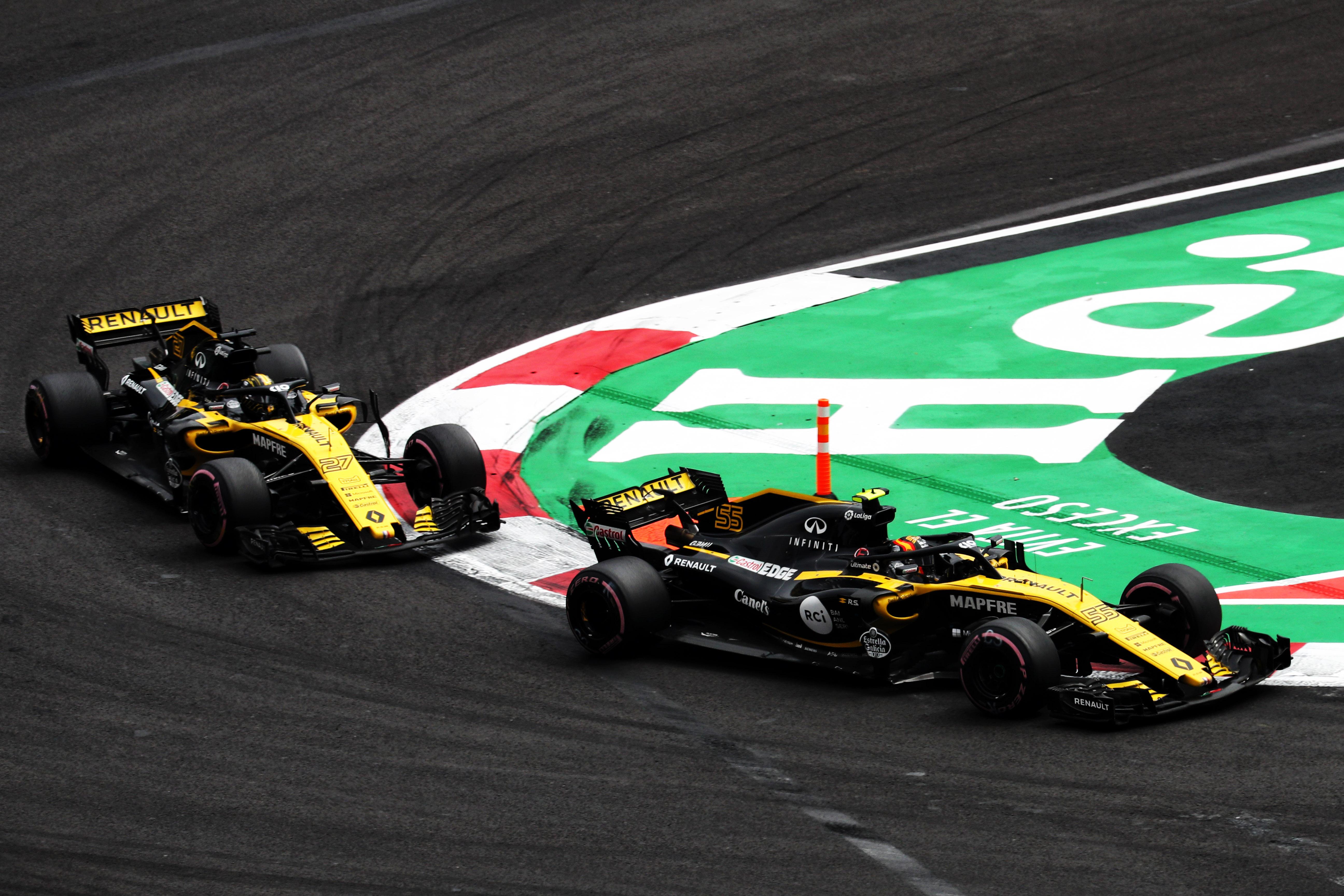 Nico Hulkenberg Carlos Sainz Jr Renault Mexican Grand Prix 2018