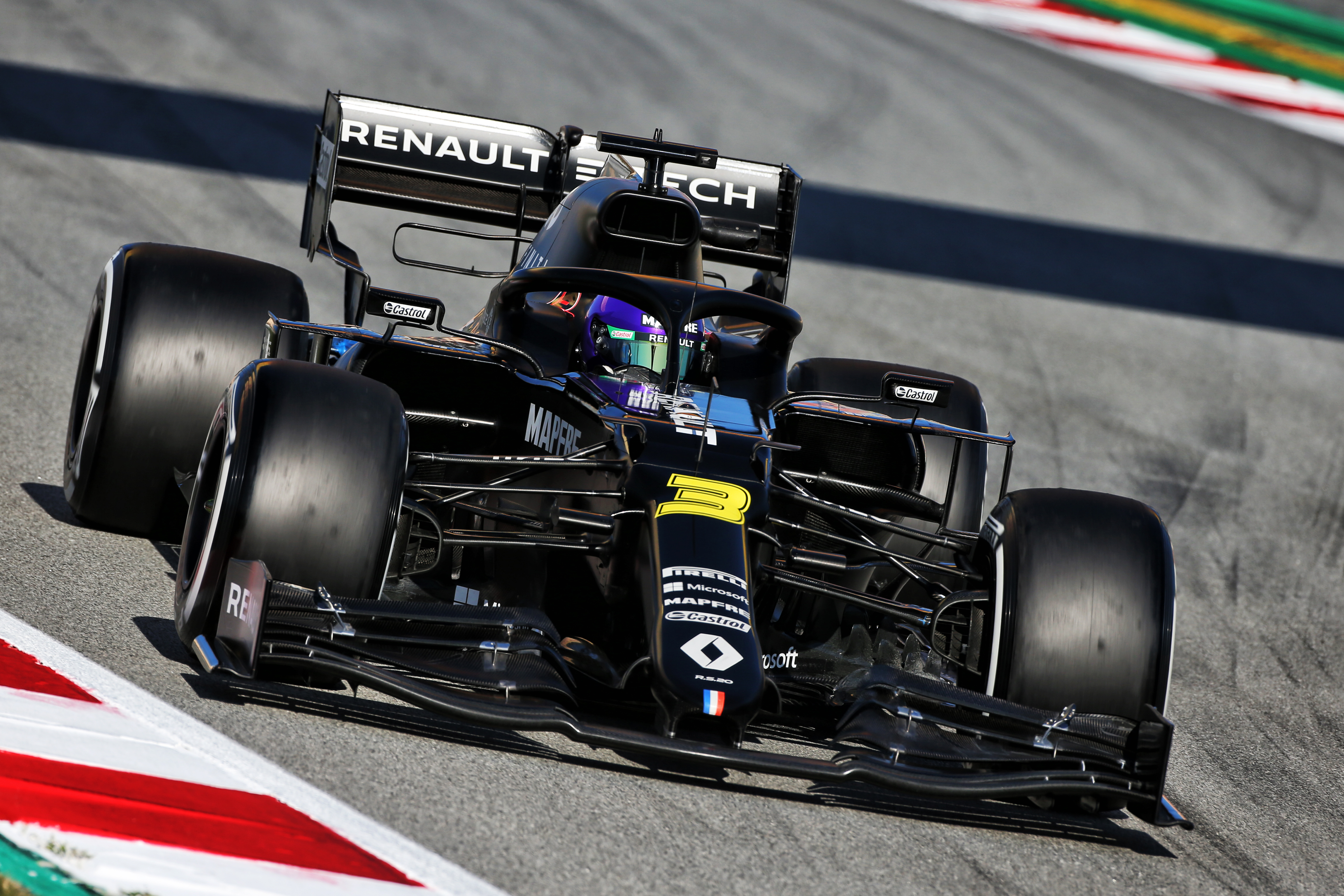 Daniel Ricciardo Renault Barcelona F1 testing 2020