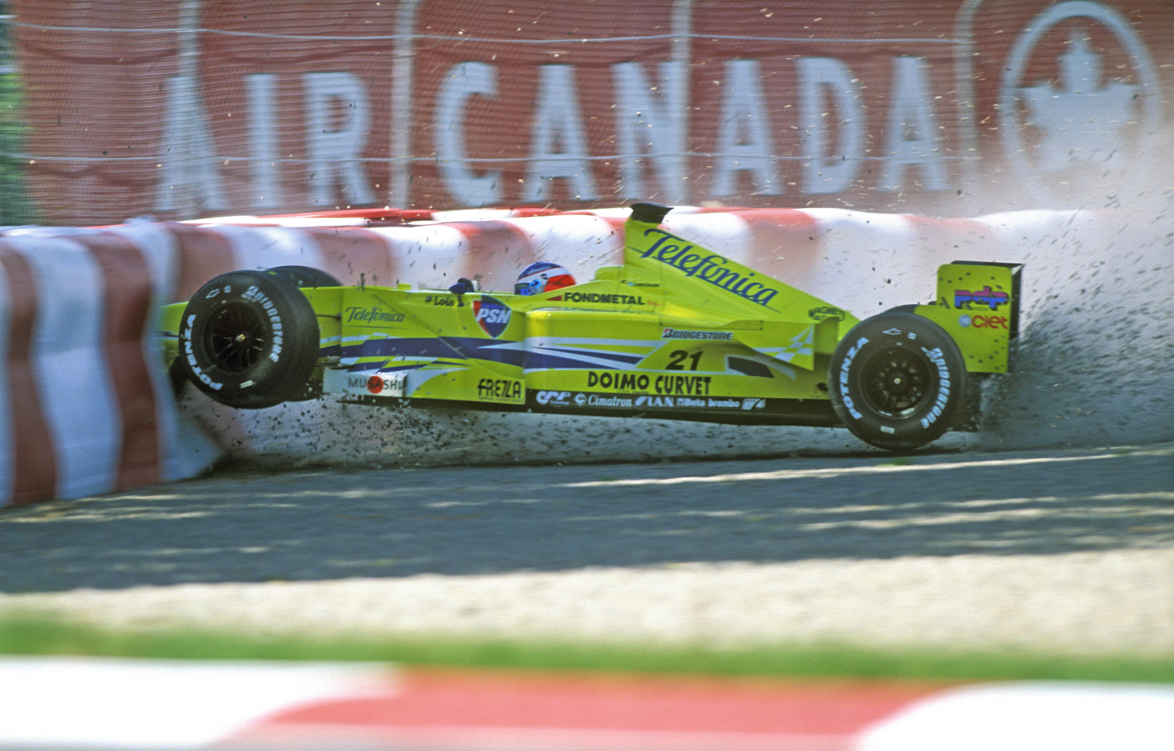 Gaston Mazzacane Minardi F1 crash 2000