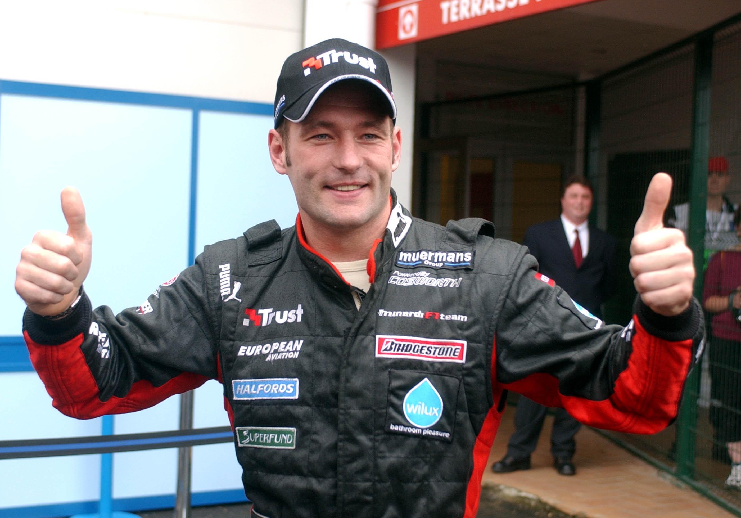Jos Verstappen F1 qualifying France 2003 Minardi fastest