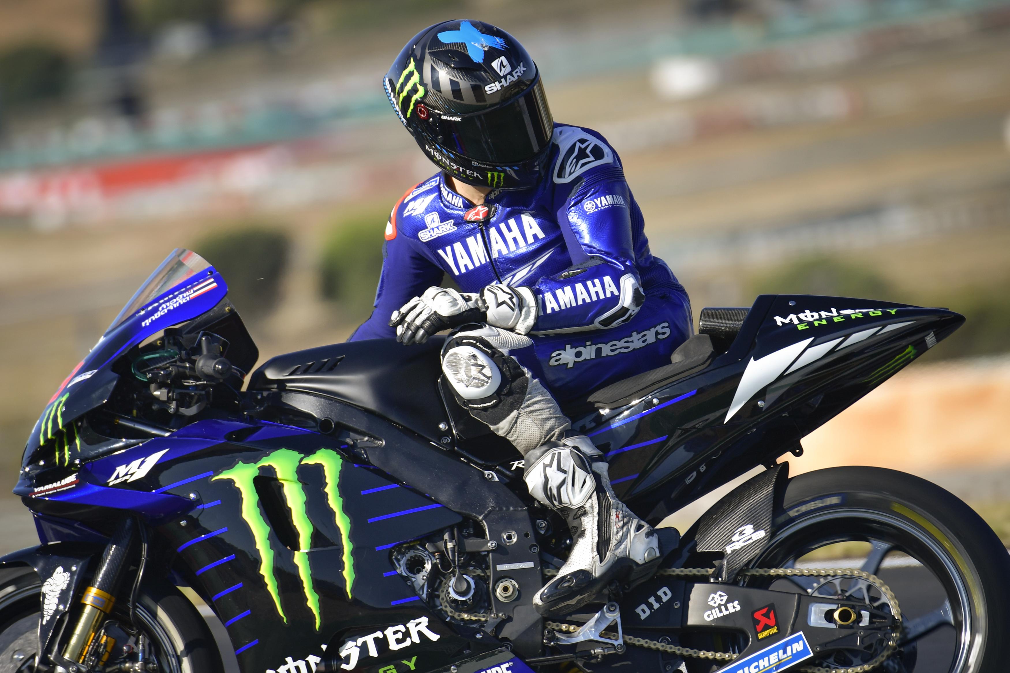 Jorge Lorenzo Yamaha Algarve test 2020
