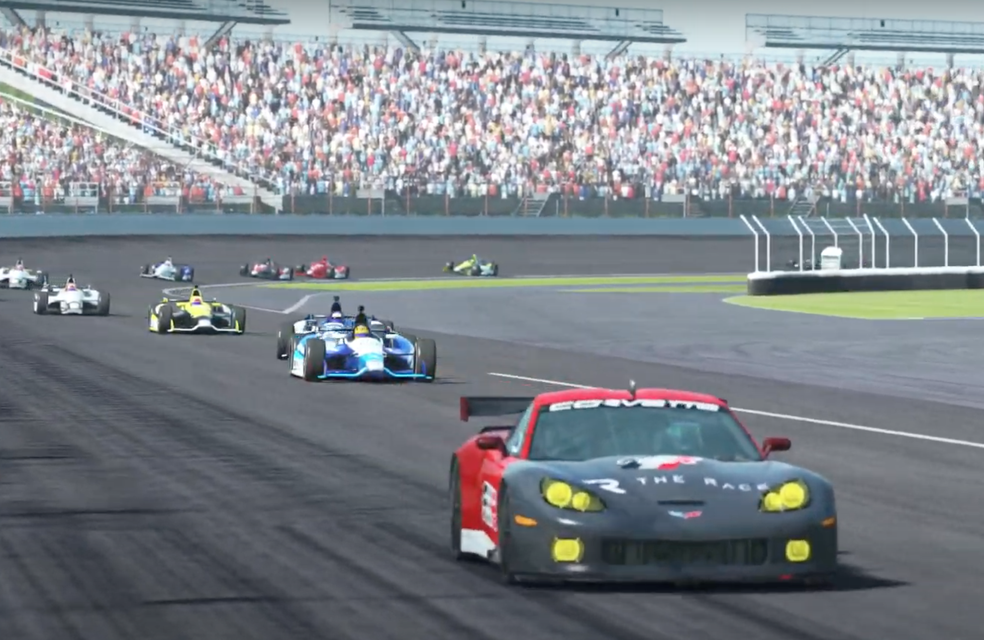Indypro R6 Safety Car Leads De Waal Pic 1