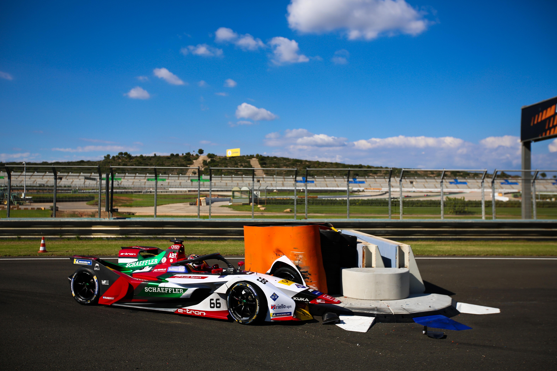 Daniel Abt Valencia Formula E testing chicane crash 2018